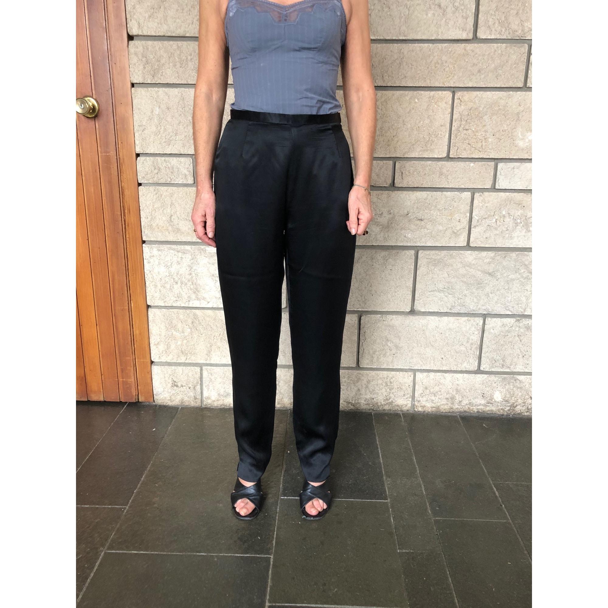Pantalon droit SHANGHAI TANG Noir