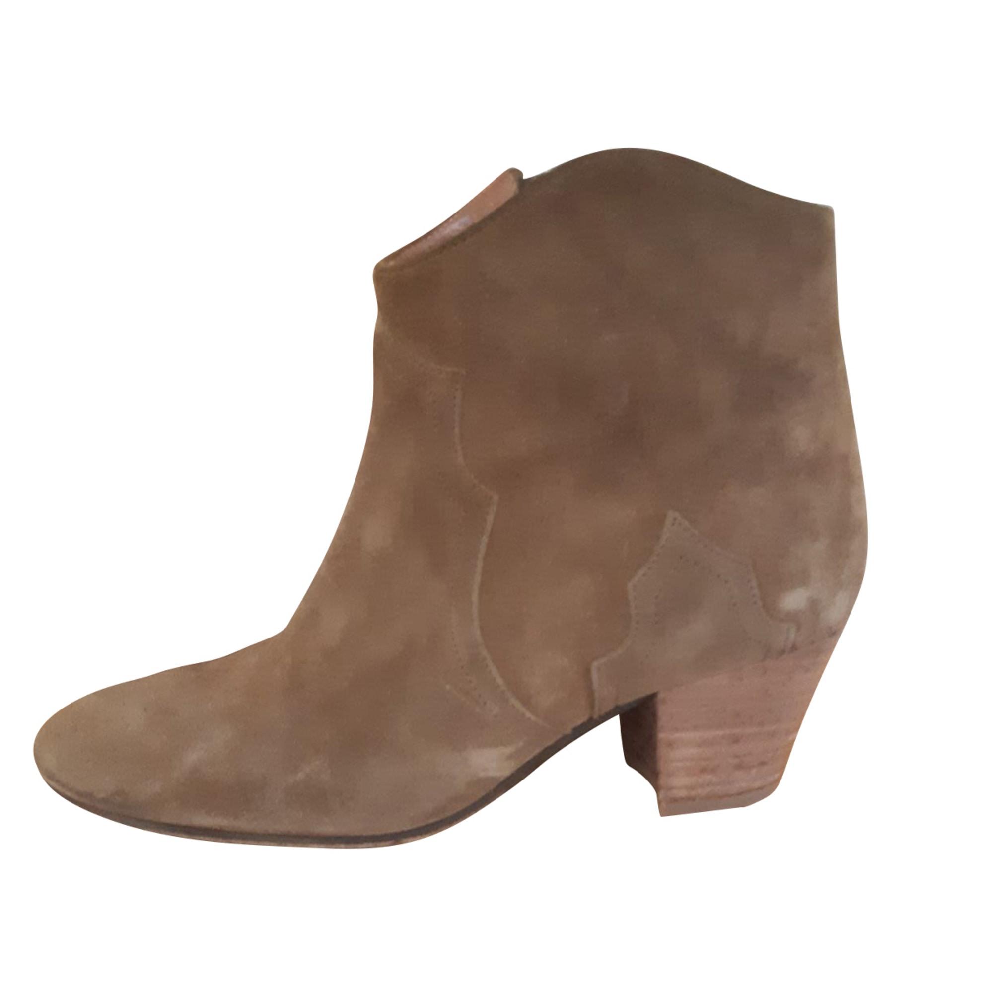 Santiags, bottines, low boots cowboy ISABEL MARANT ETOILE Kaki