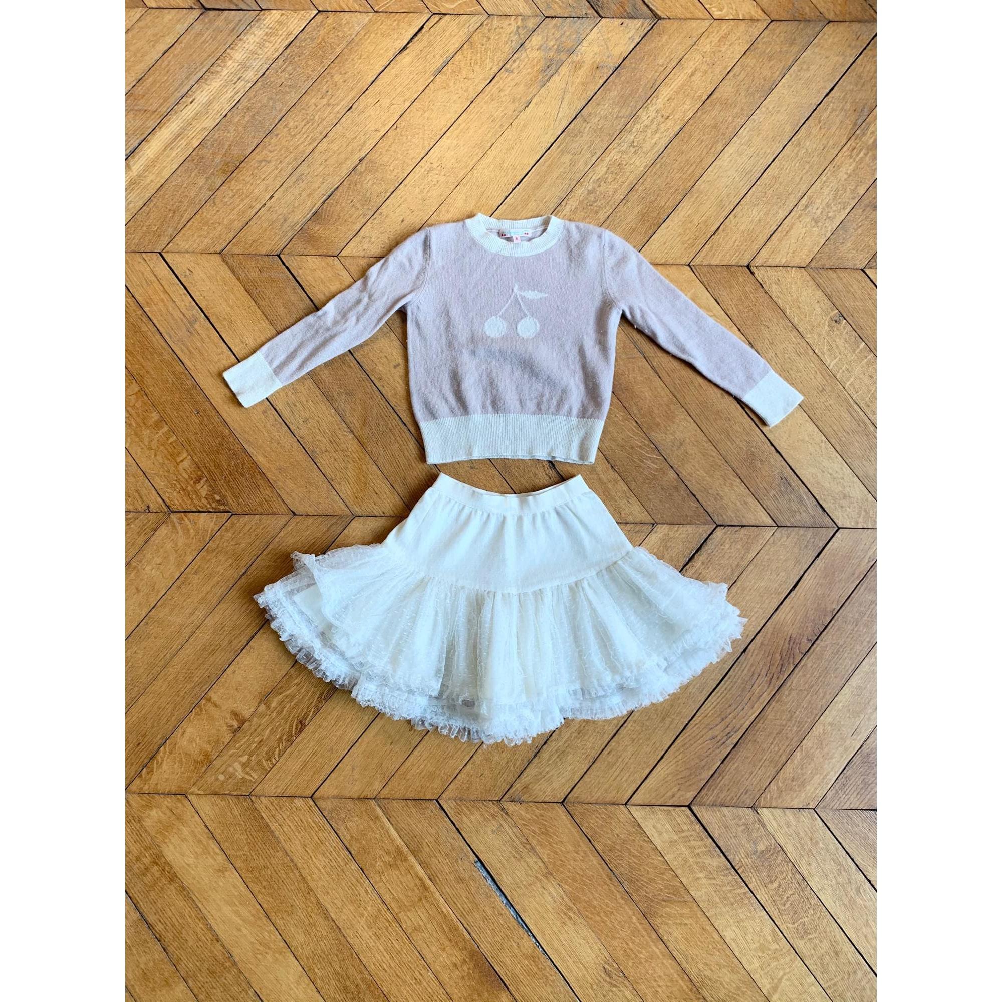 Anzug, Set für Kinder, kurz BONPOINT Weiß, elfenbeinfarben