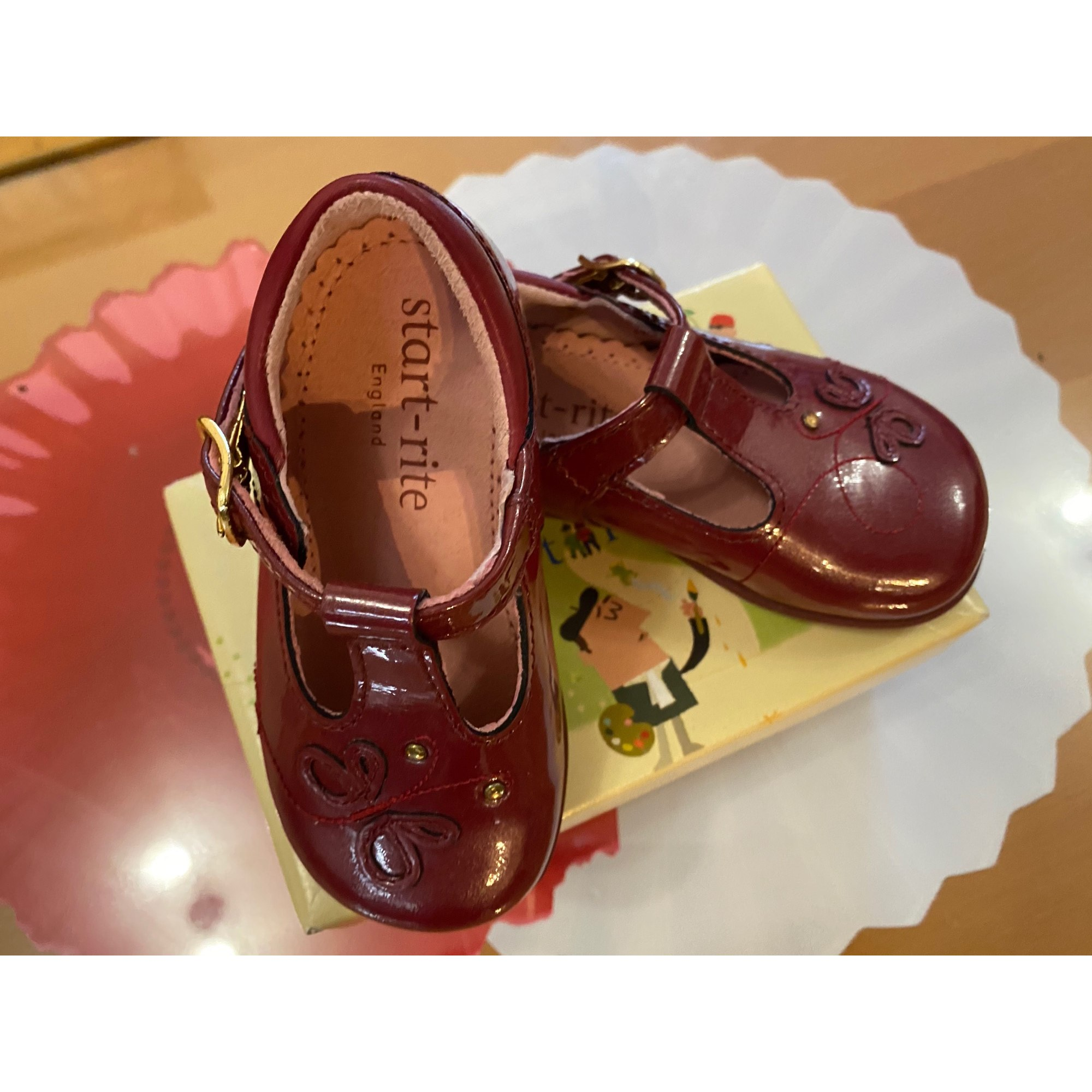 Chaussures à boucle START RITE Rouge, bordeaux