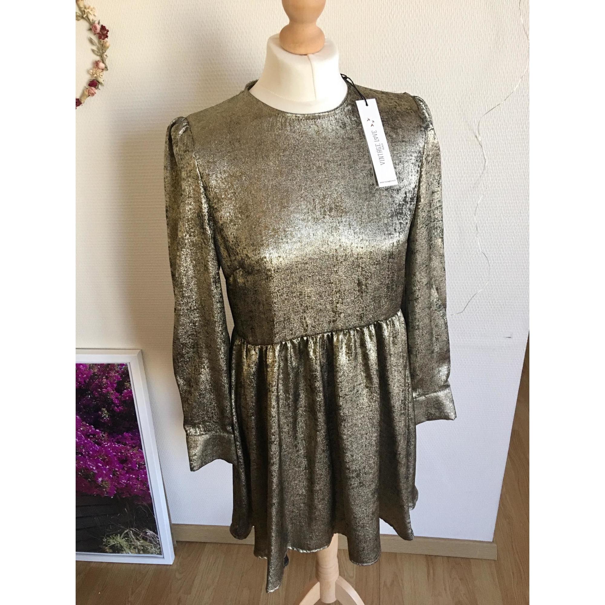Robe mi-longue VINTAGE LOVE Doré, bronze, cuivre