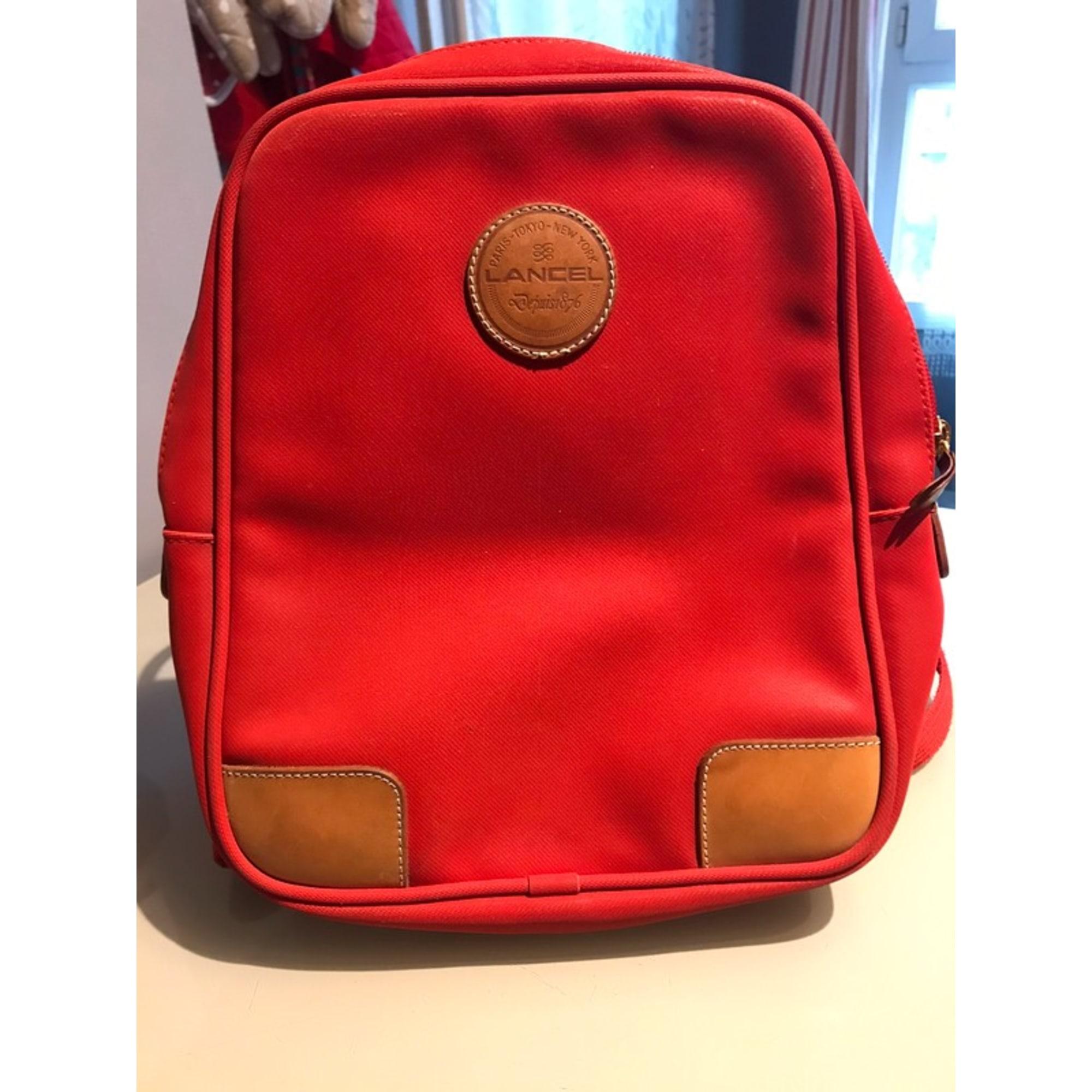 Backpack LANCEL Red, burgundy
