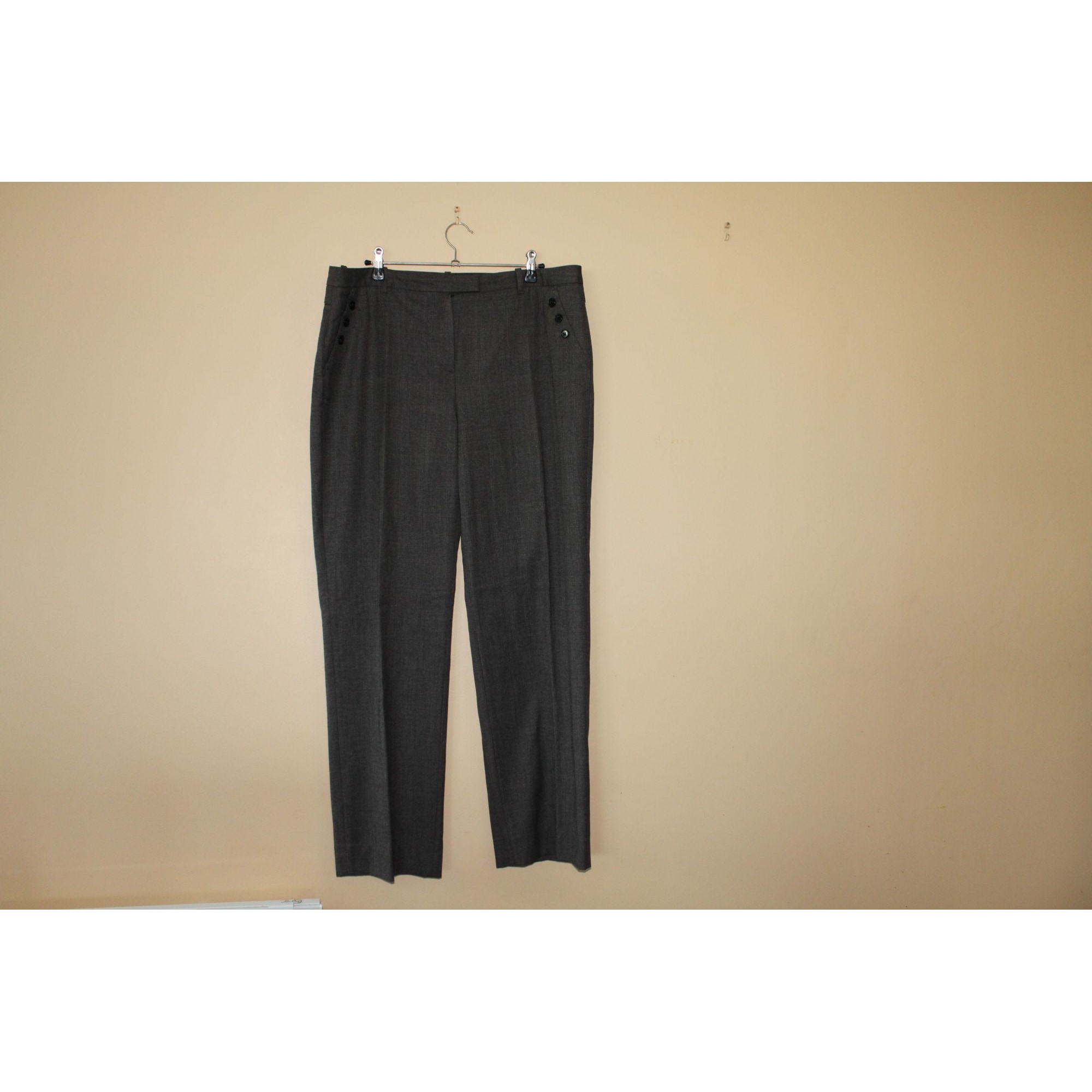 Pantalon droit CAROLL Marron