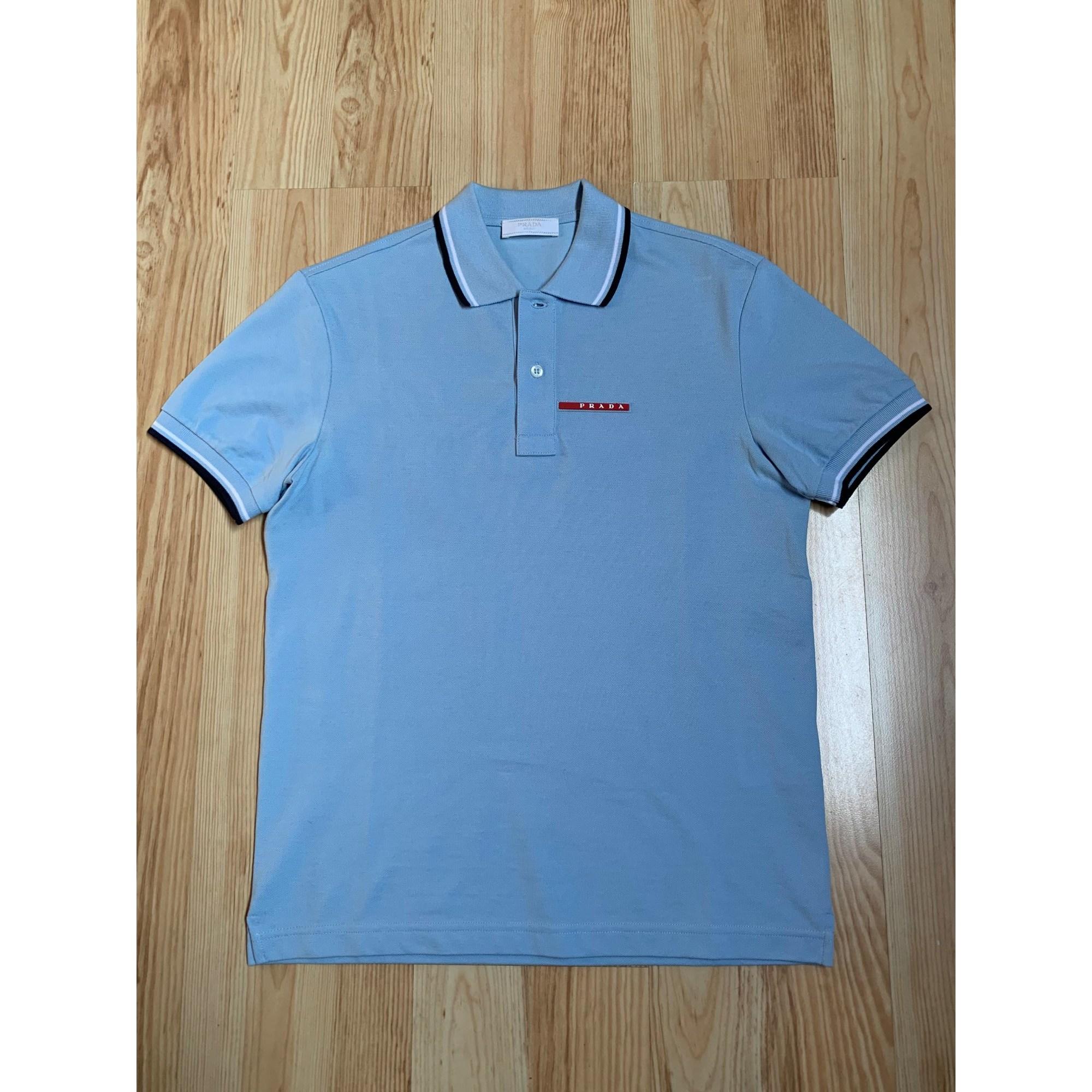 Polo PRADA Bleu, bleu marine, bleu turquoise