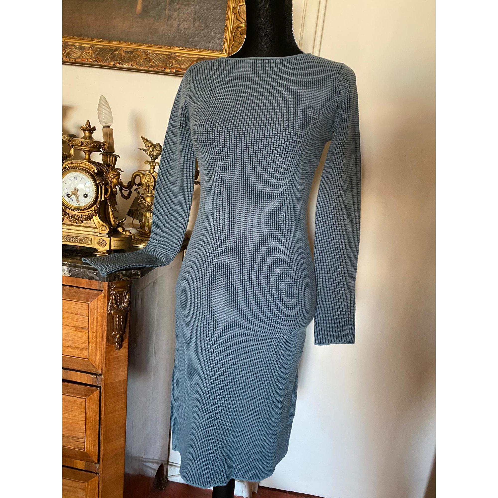 Robe mi-longue ARMANI Bleu, bleu marine, bleu turquoise