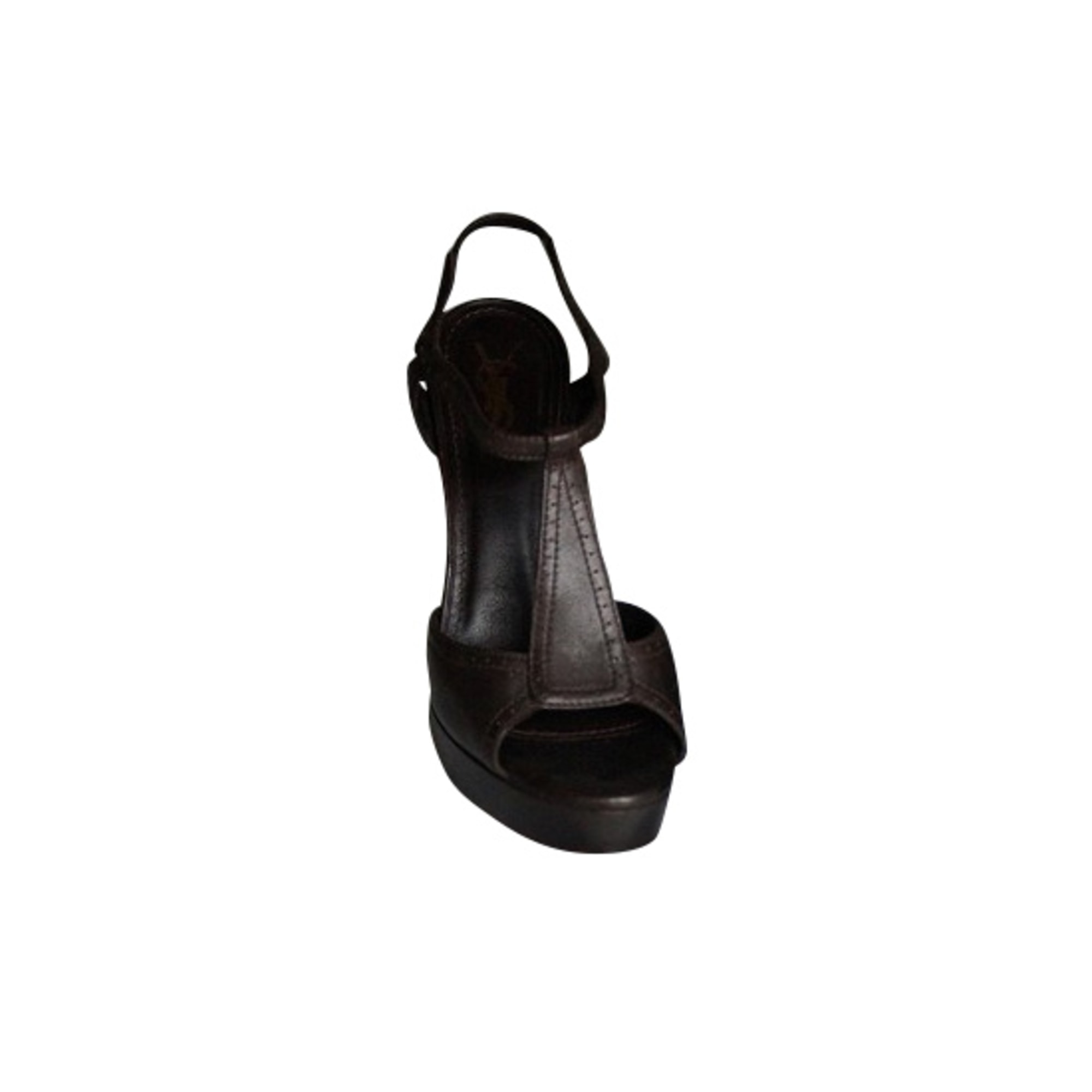 Heeled Sandals YVES SAINT LAURENT Tribute Brown
