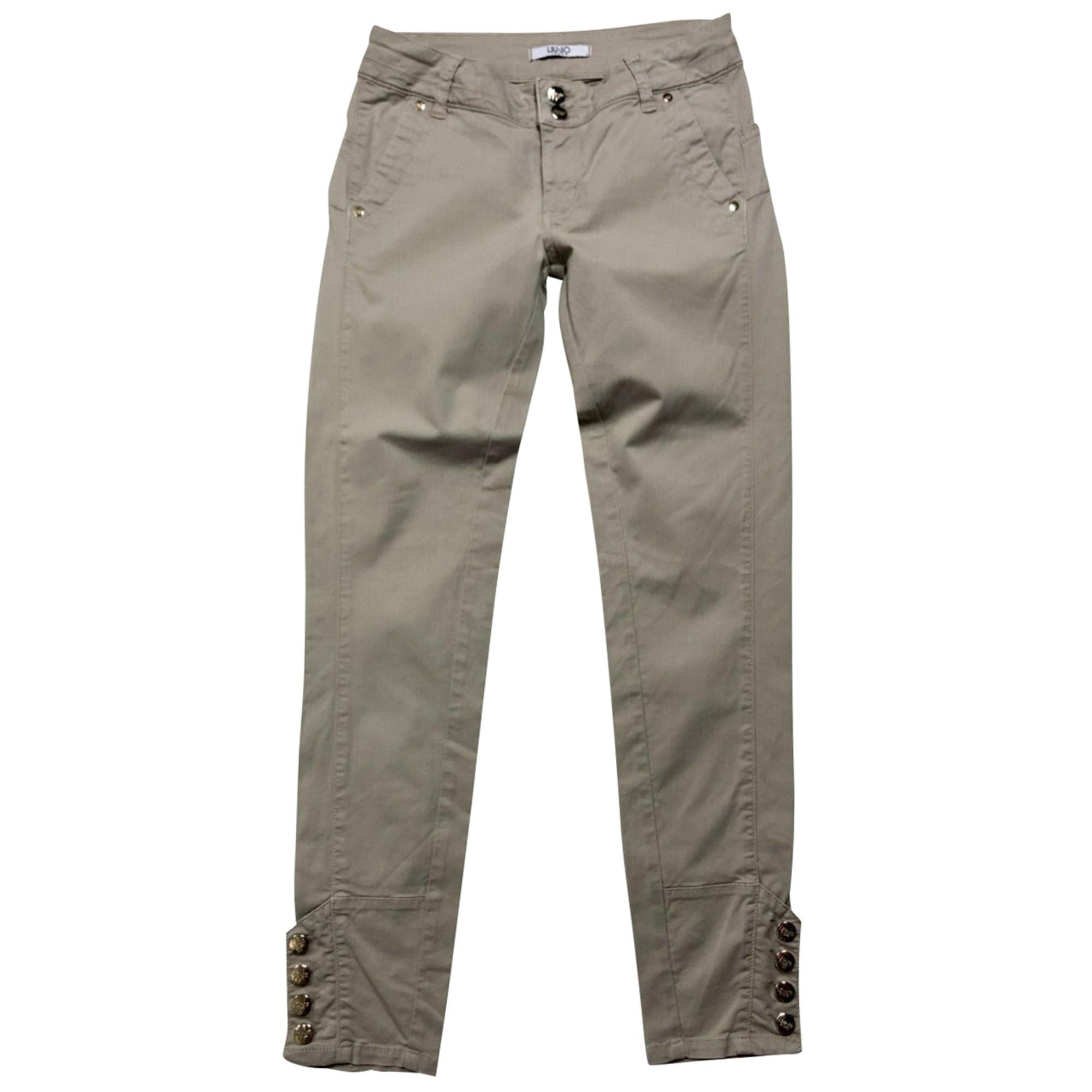 Pantalon droit LIU JO Beige, camel