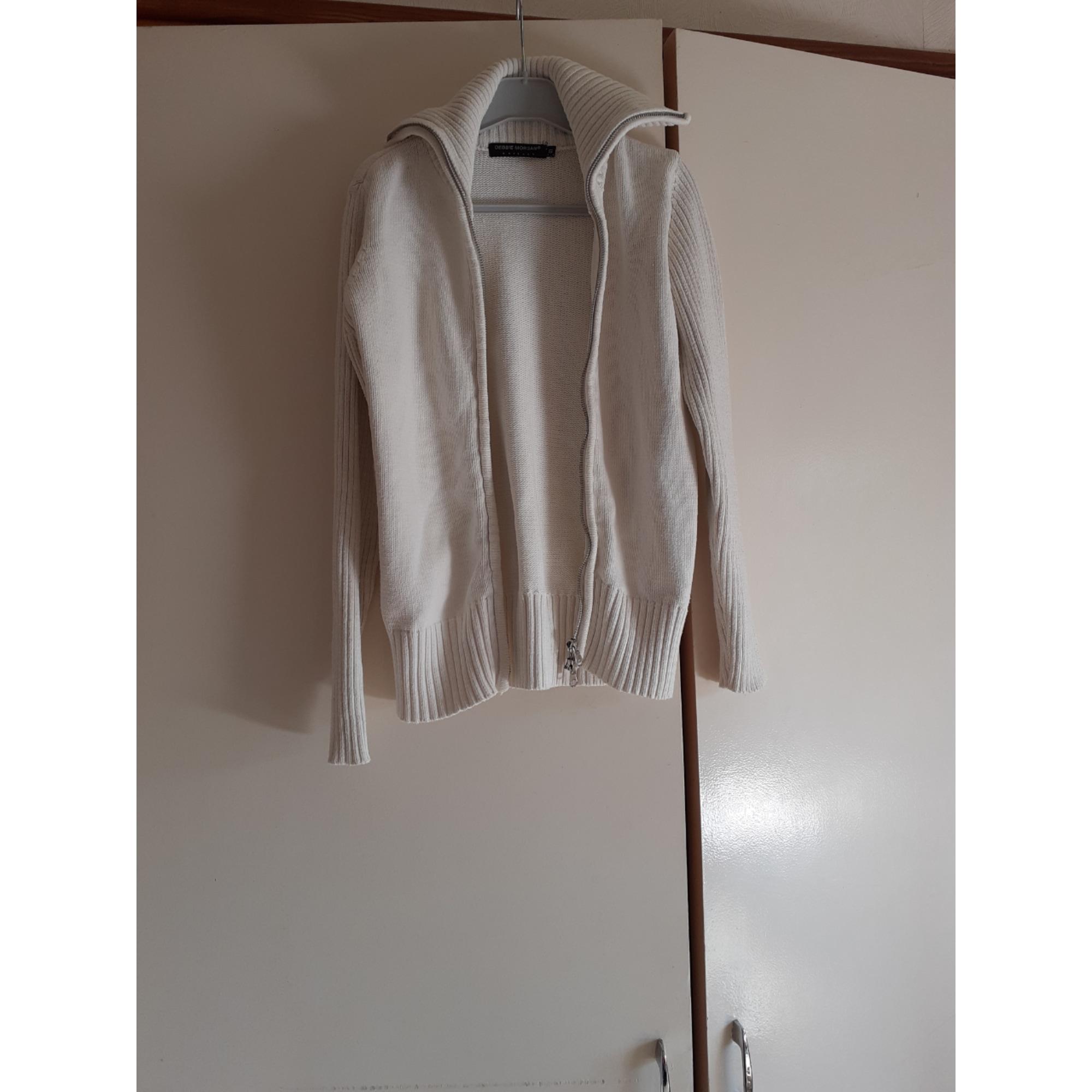 Gilet, cardigan DEBBIE MORGAN Blanc, blanc cassé, écru