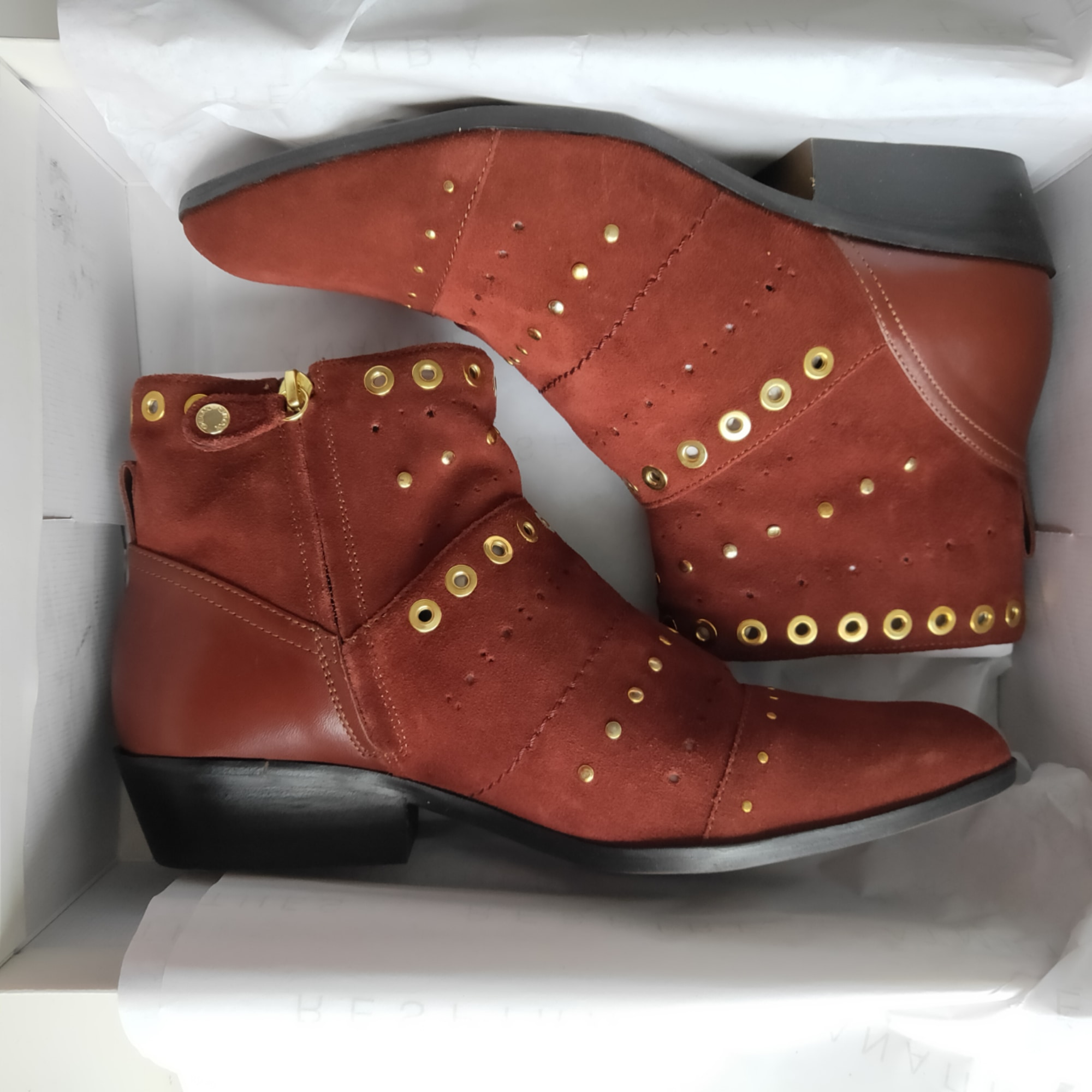 Bottines & low boots plates GEOX Marron