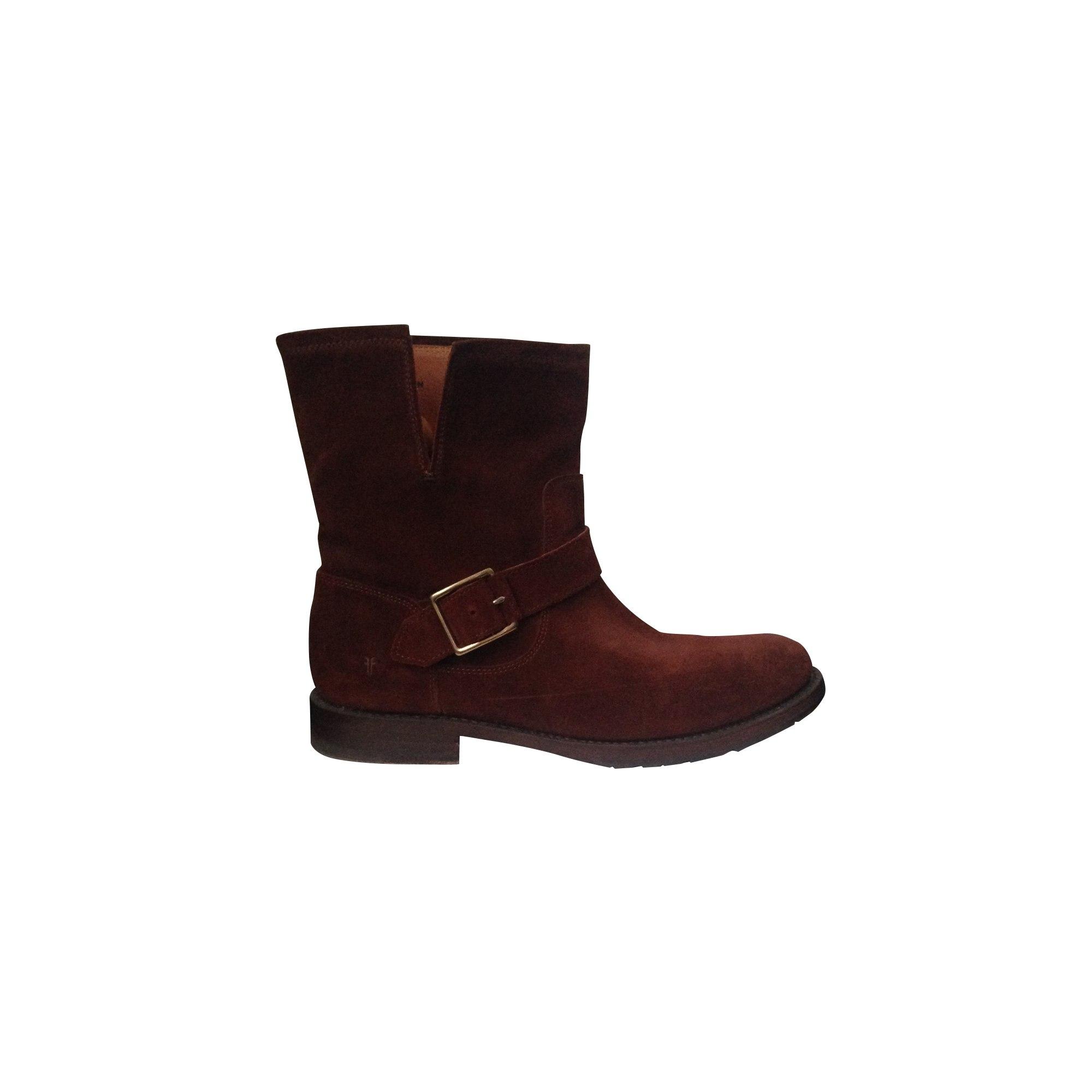 Bottines & low boots motards FRYE Marron