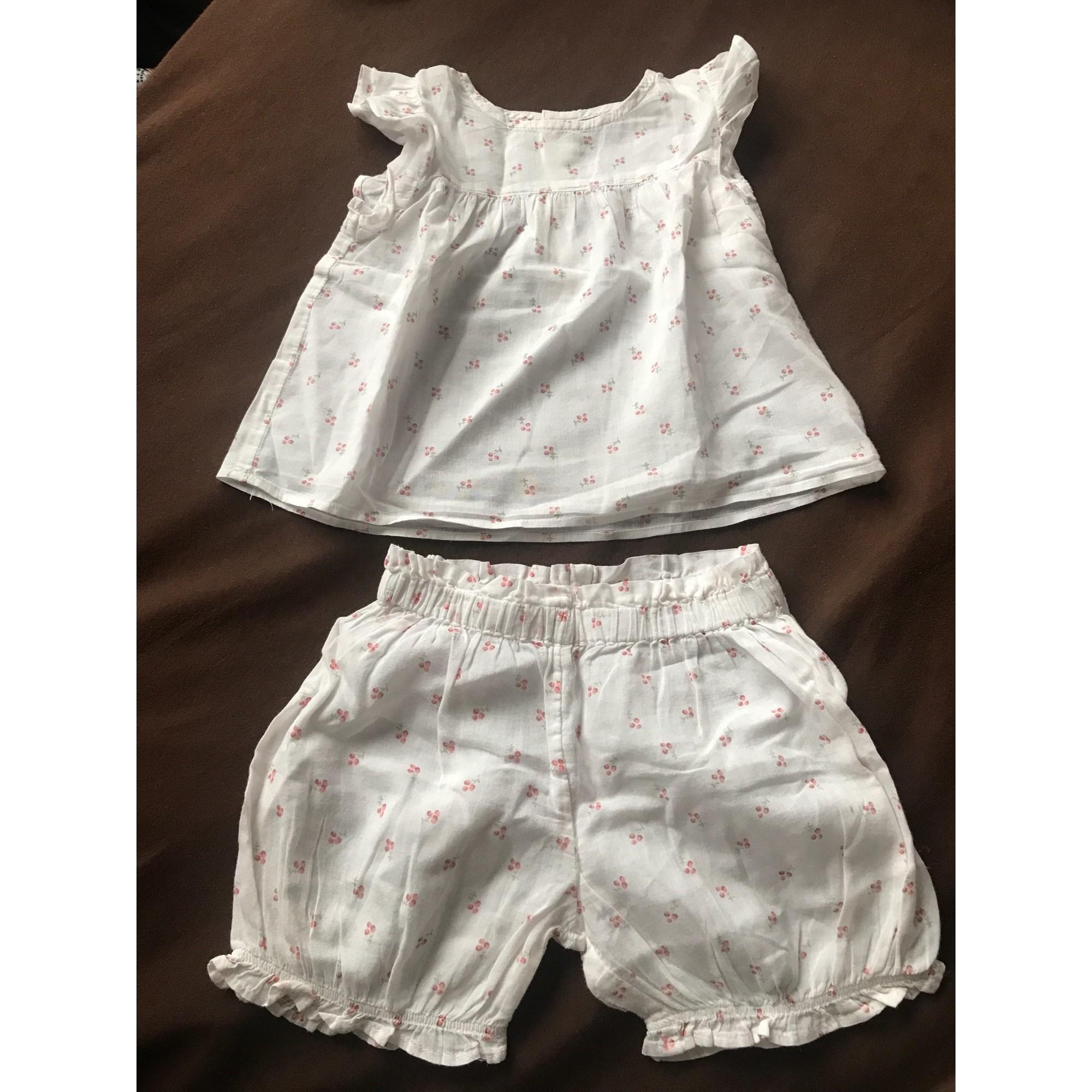 Shorts Set, Outfit BOUT'CHOU White, off-white, ecru