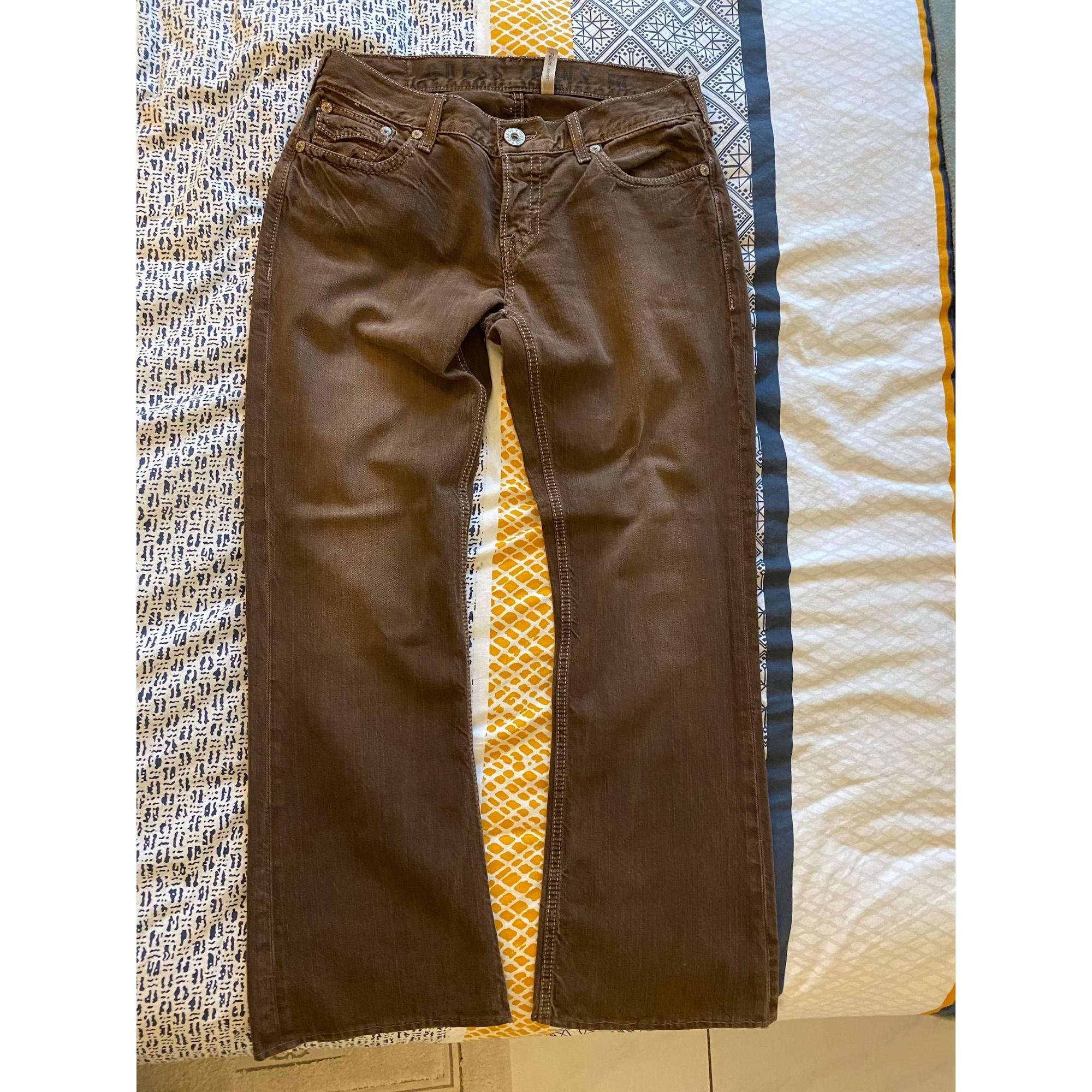 Jeans droit GUESS Marron