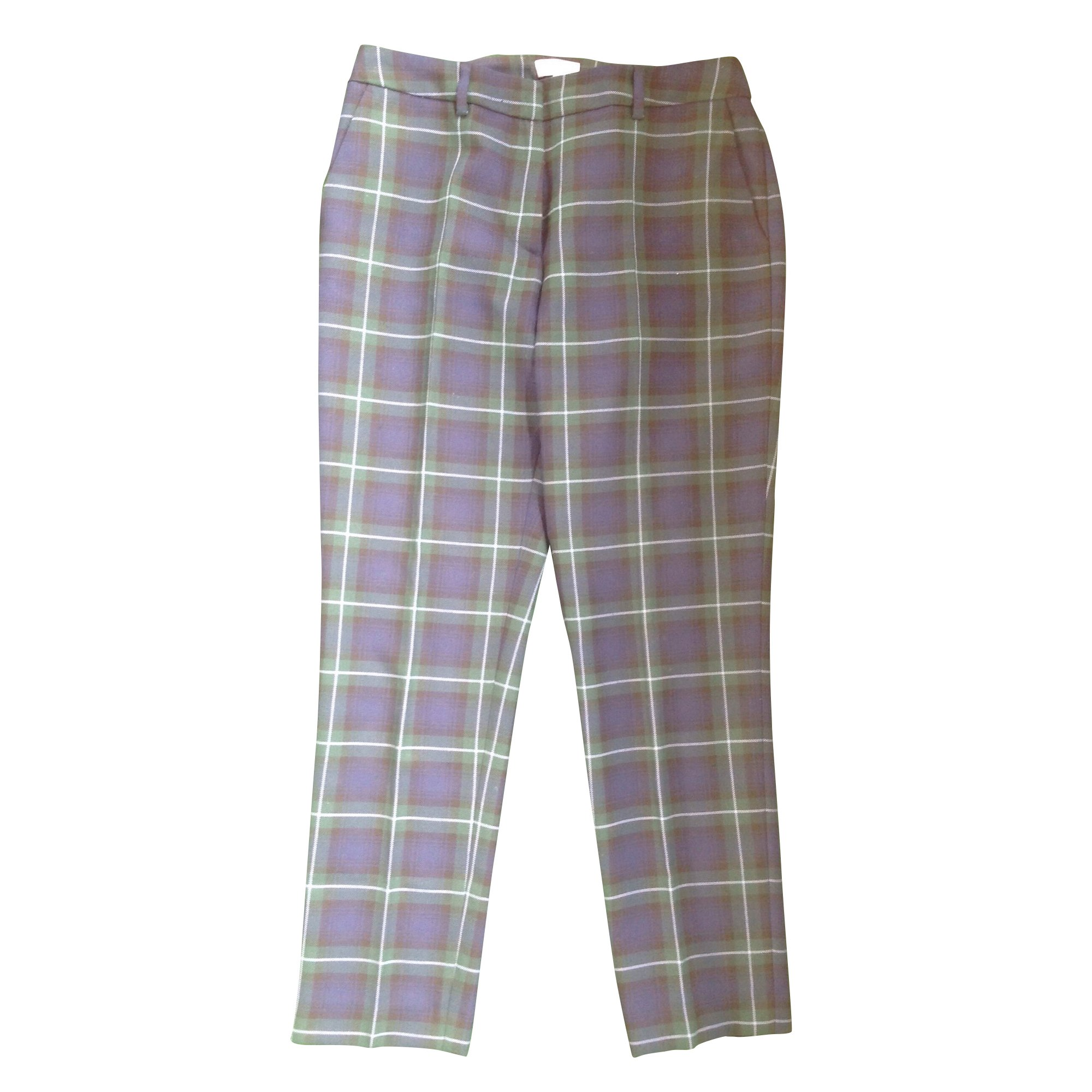 Pantalon slim, cigarette CLAUDIE PIERLOT Vert