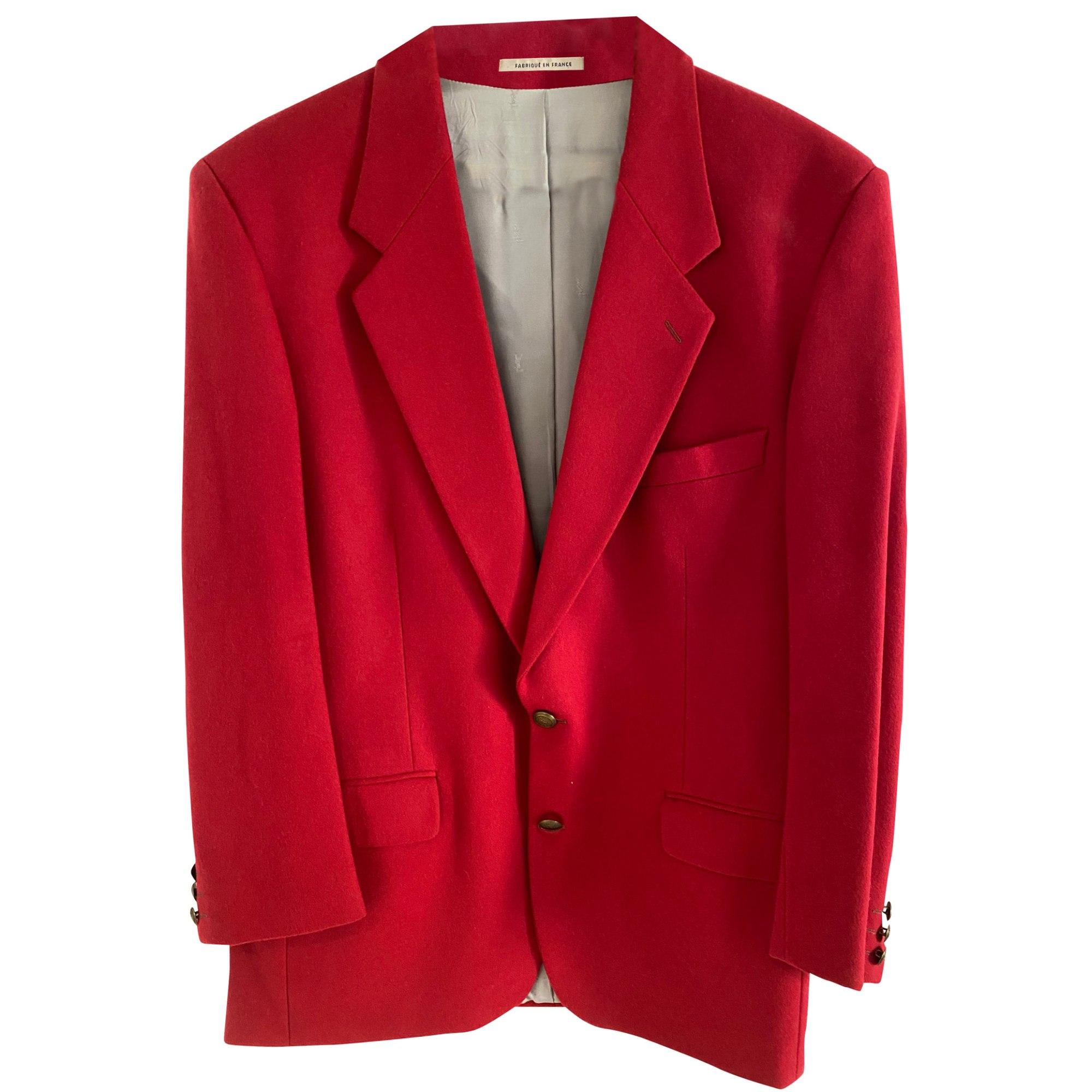 Suit Jacket YVES SAINT LAURENT Red, burgundy