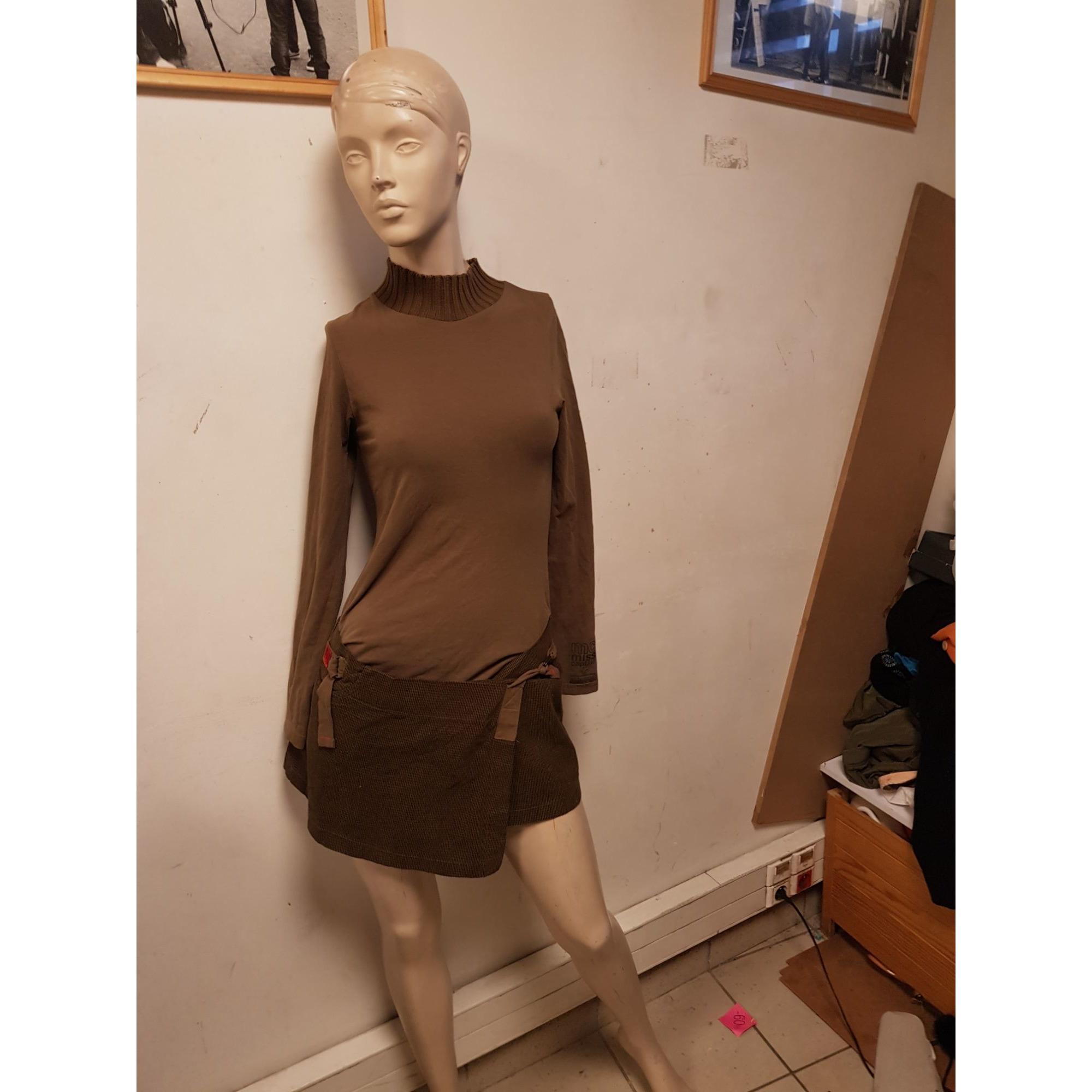 Robe courte MISS CAPTAIN Marron
