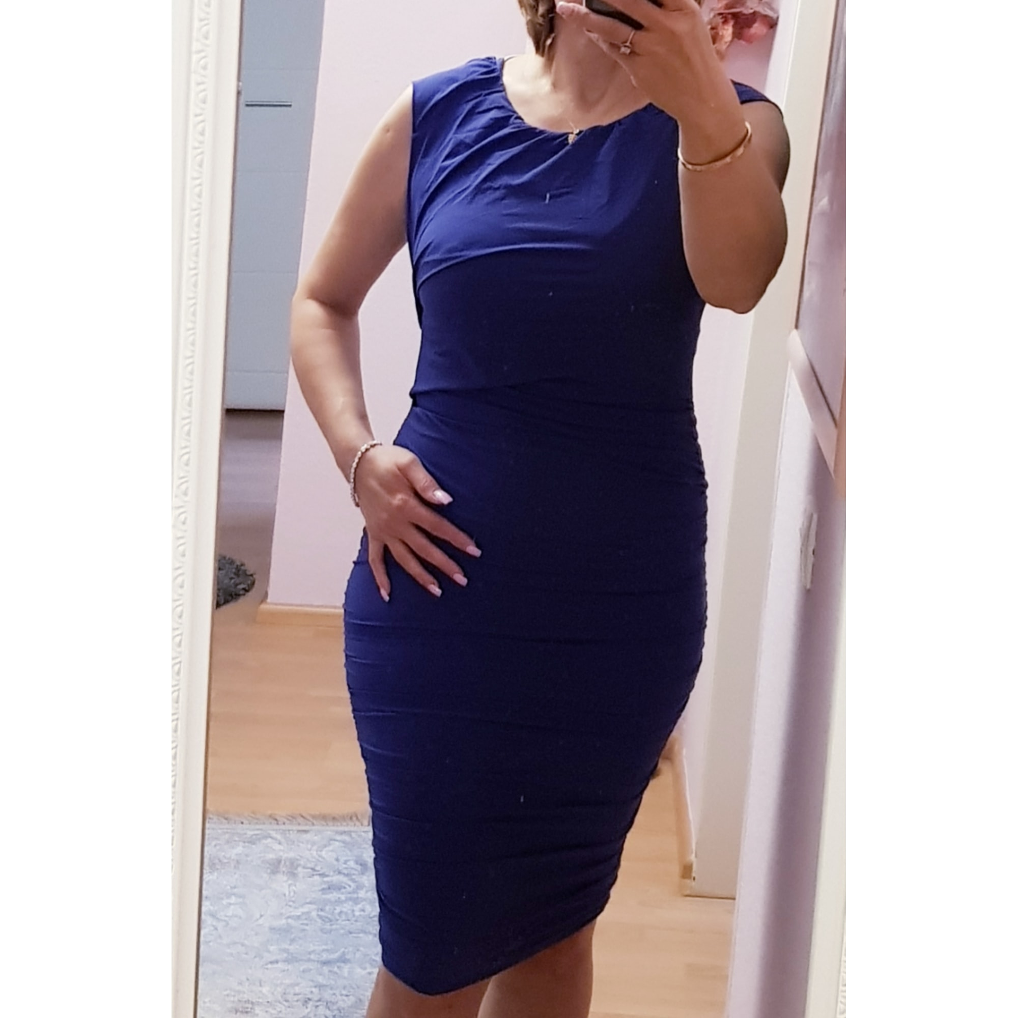 Robe mi-longue PINKO Bleu, bleu marine, bleu turquoise