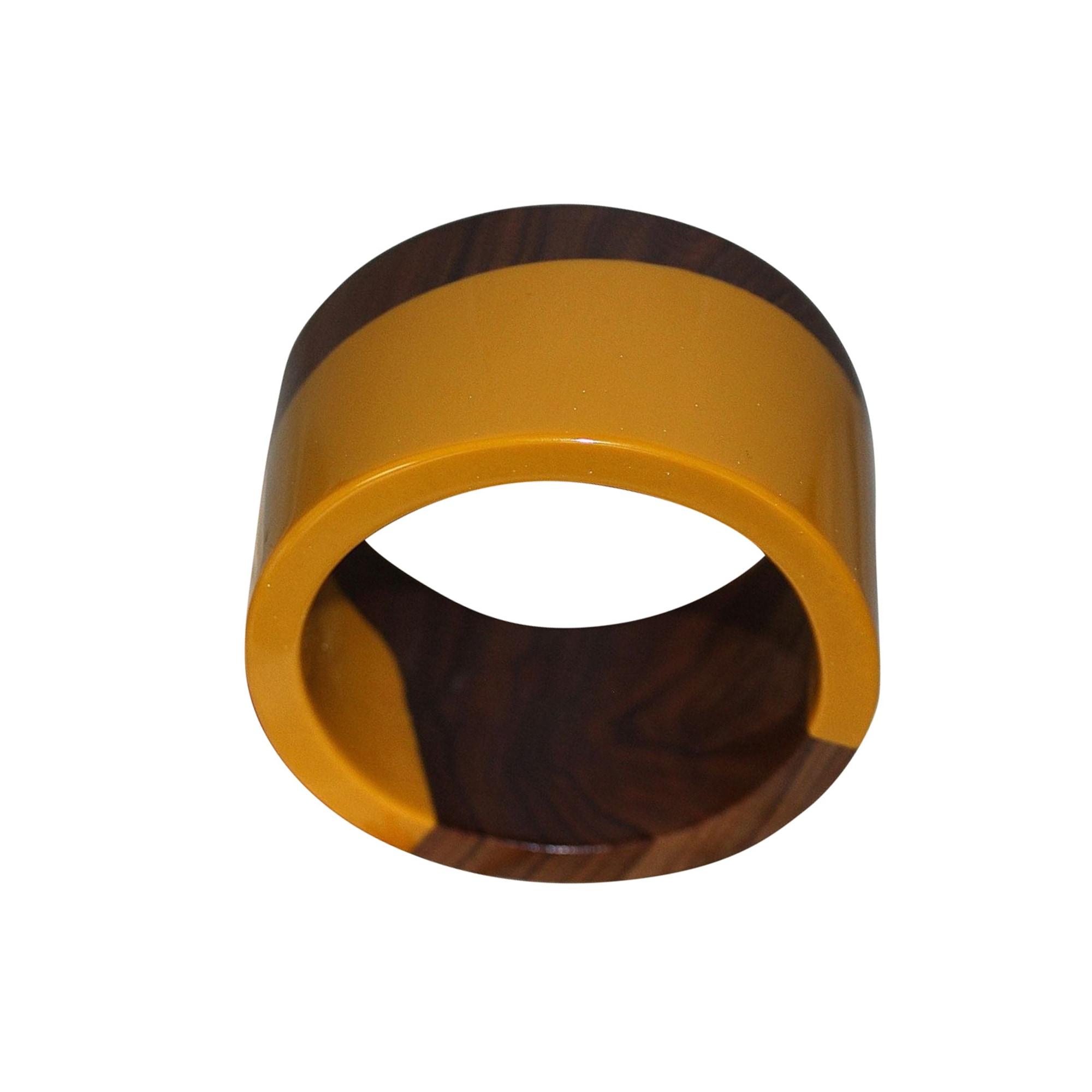 Bracelet MARNI bois et ocre