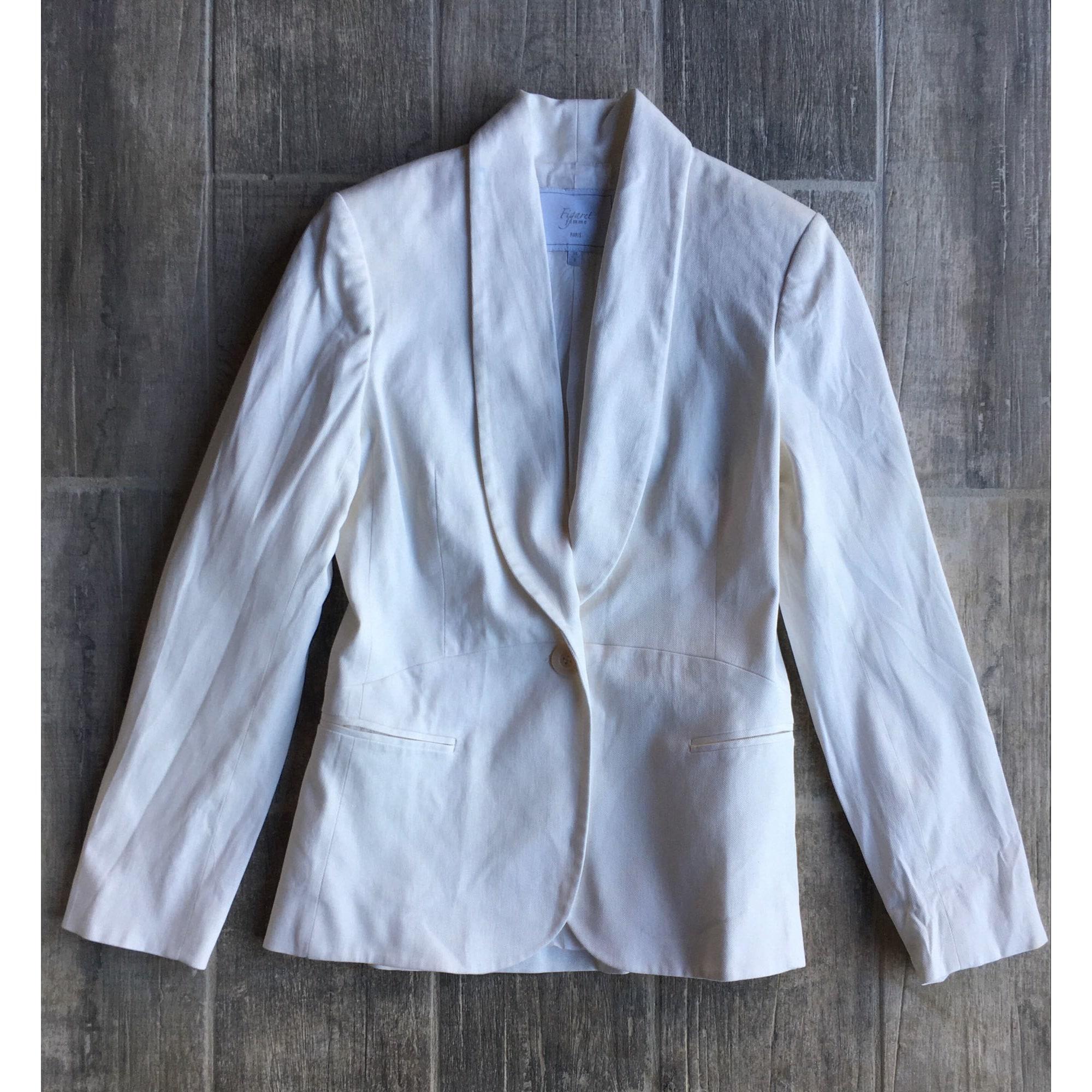 Blazer, veste tailleur ALAIN FIGARET Blanc, blanc cassé, écru