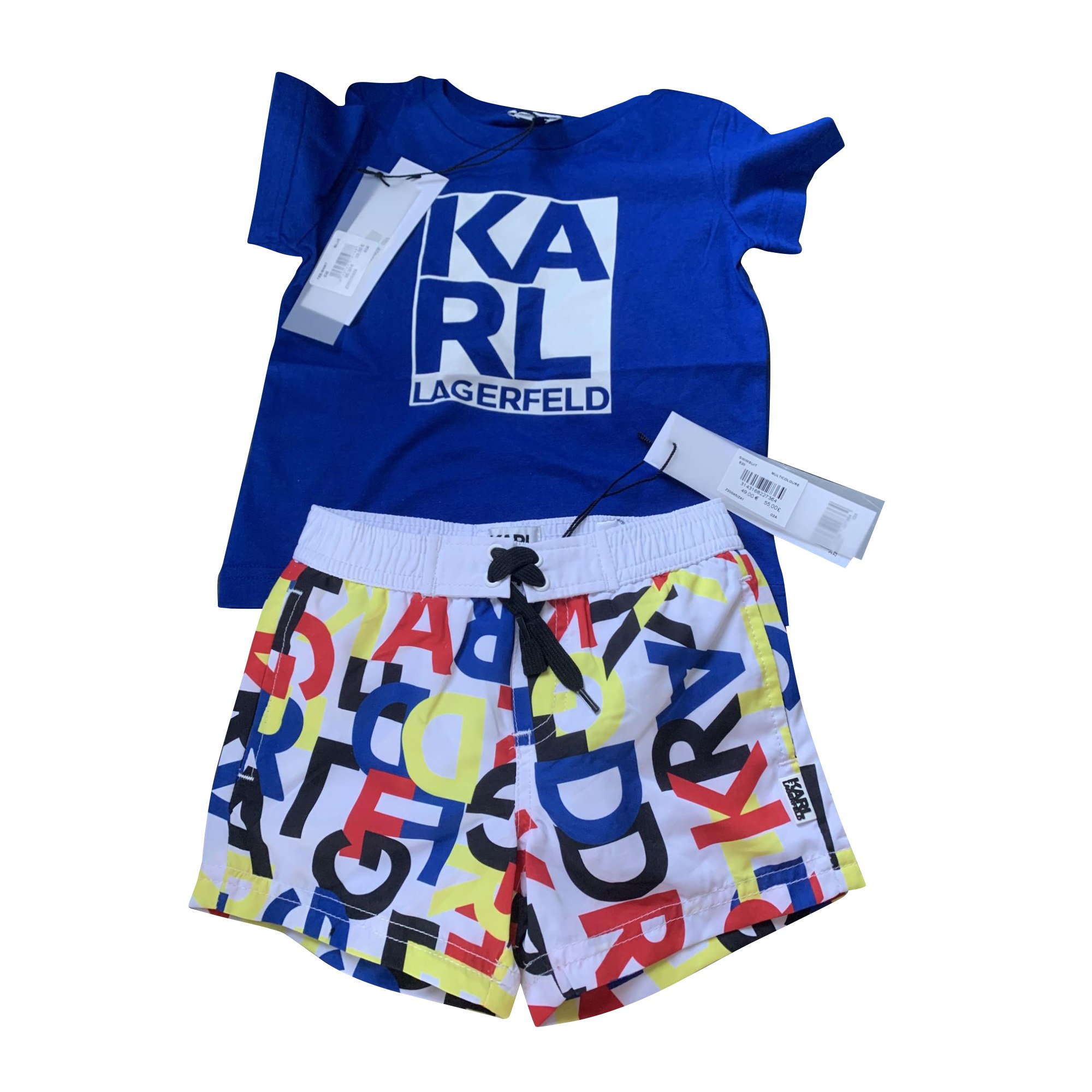 Anzug, Set für Kinder, kurz KARL LAGERFELD Blau, marineblau, türkisblau
