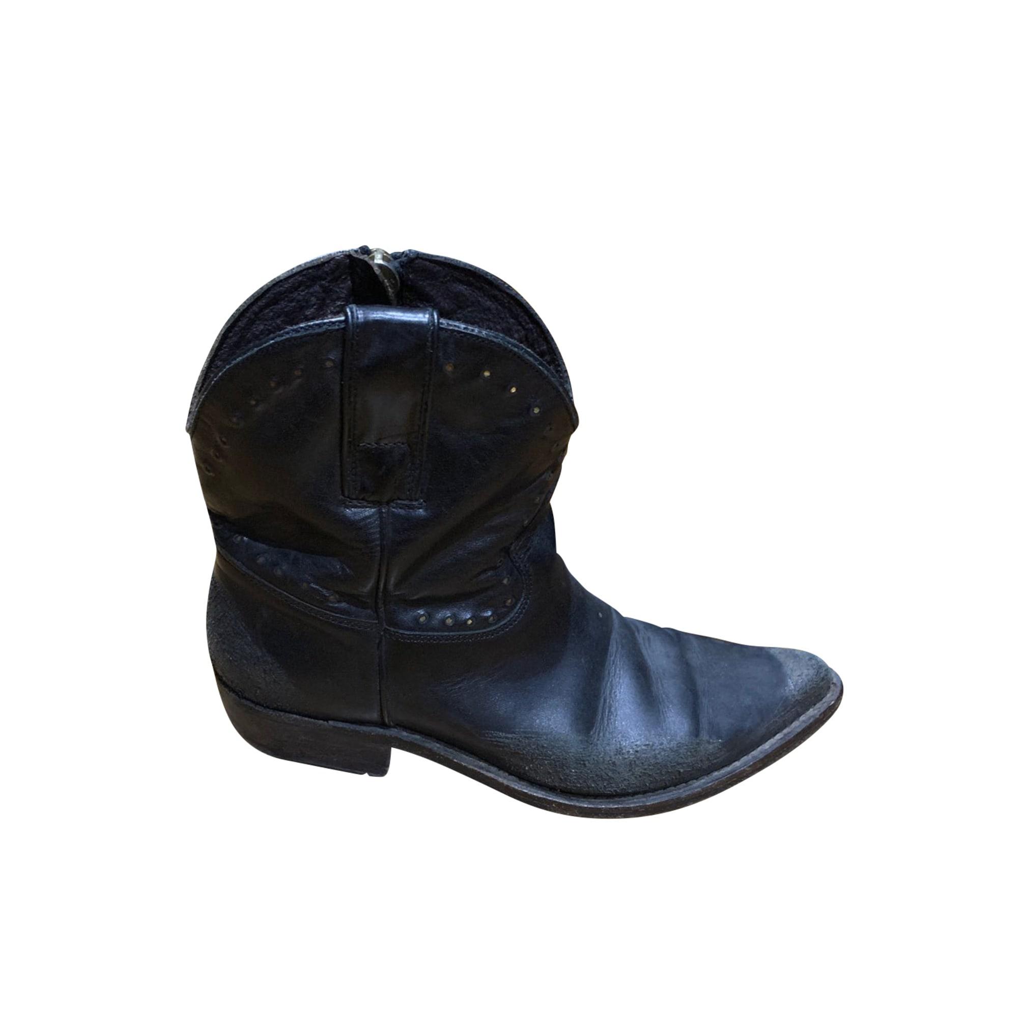 Santiags, bottines, low boots cowboy GOLDEN GOOSE Noir
