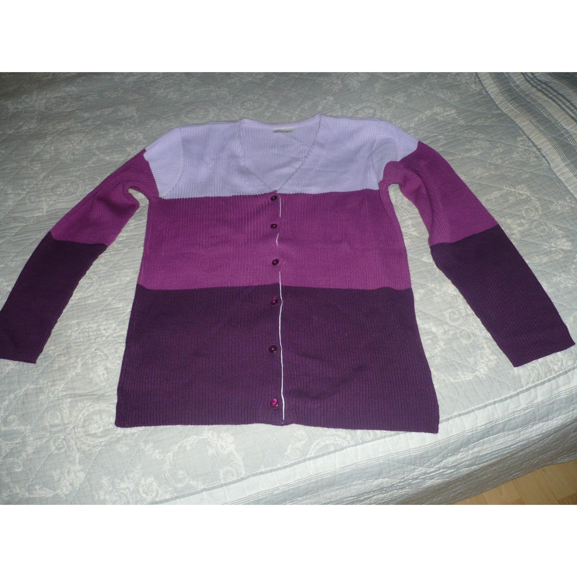 Gilet, cardigan BLANCHEPORTE Violet, mauve, lavande