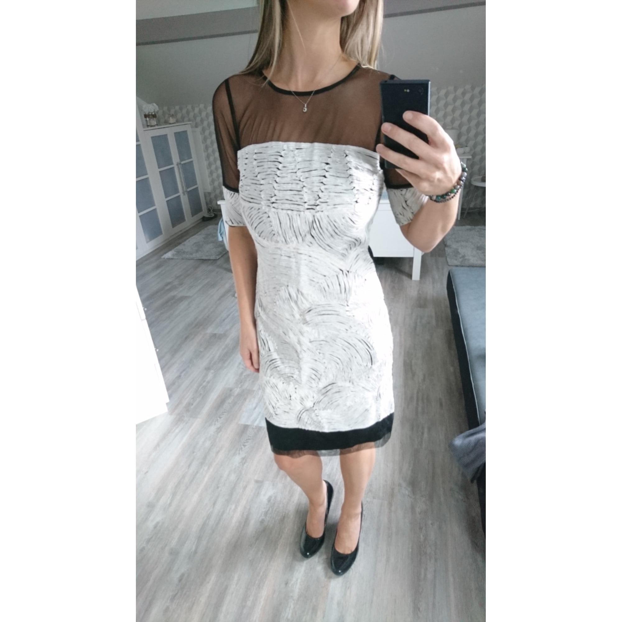 Robe courte ALMATRICHI Blanc, blanc cassé, écru