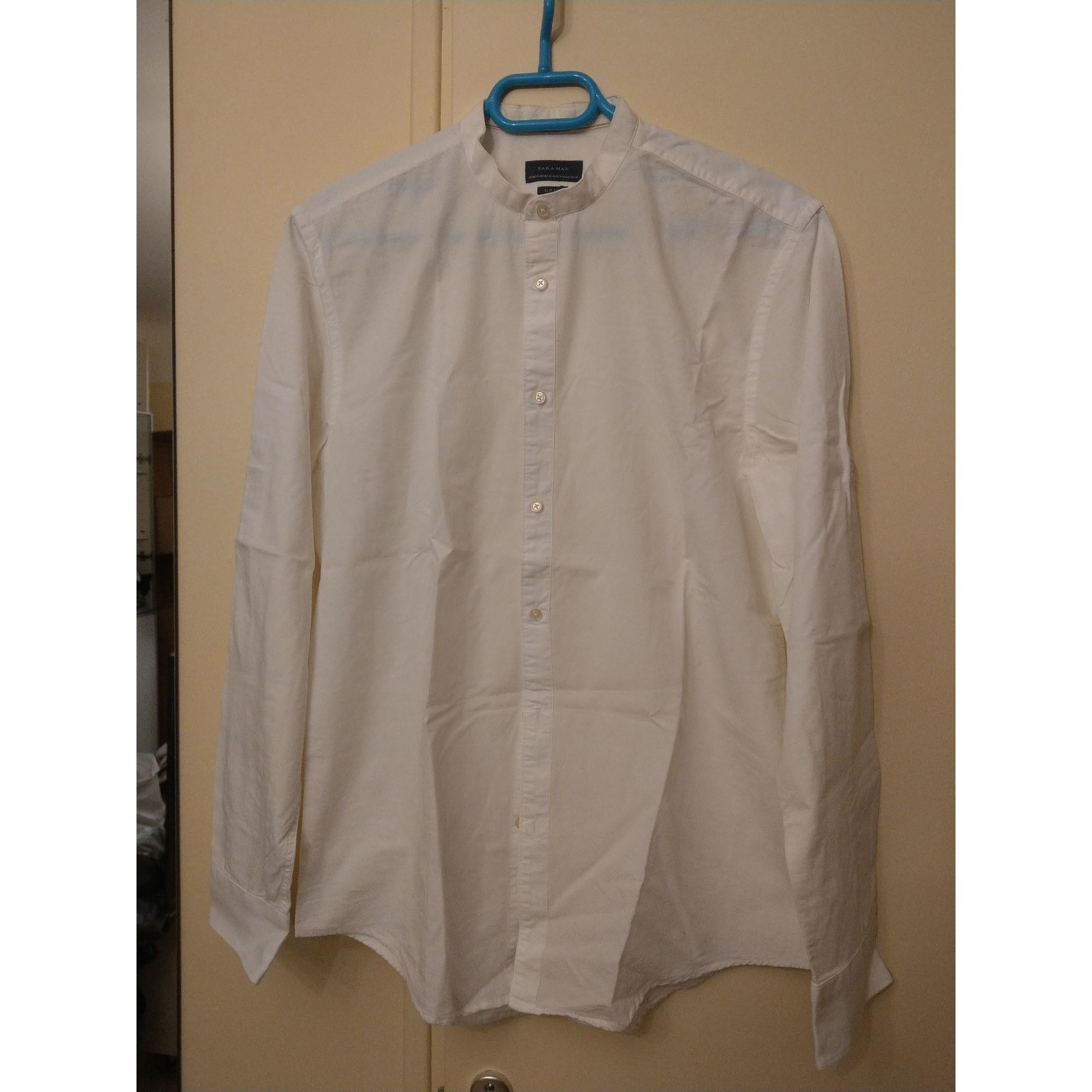 Chemise ZARA Blanc, blanc cassé, écru
