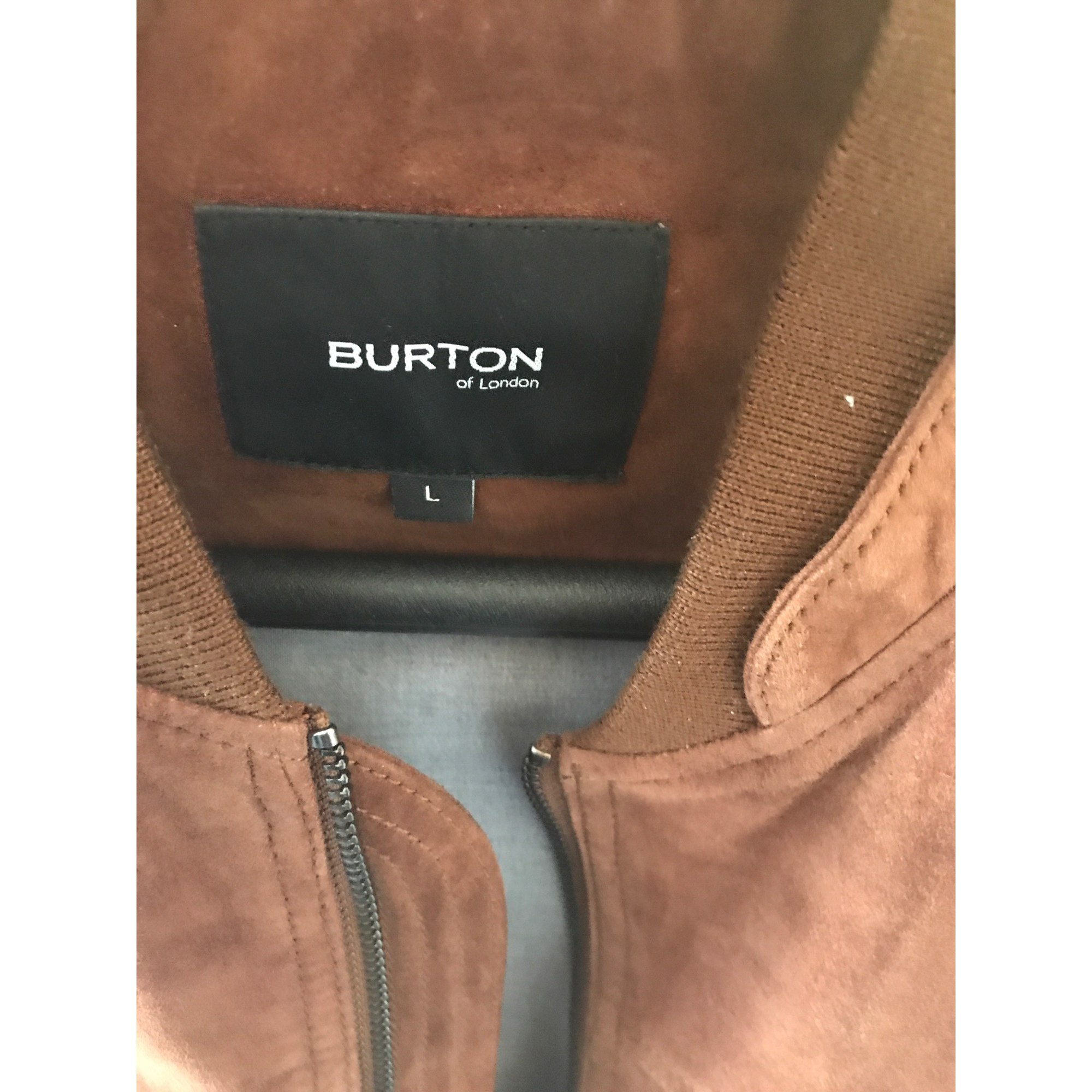 Blouson en cuir BURTON Marron