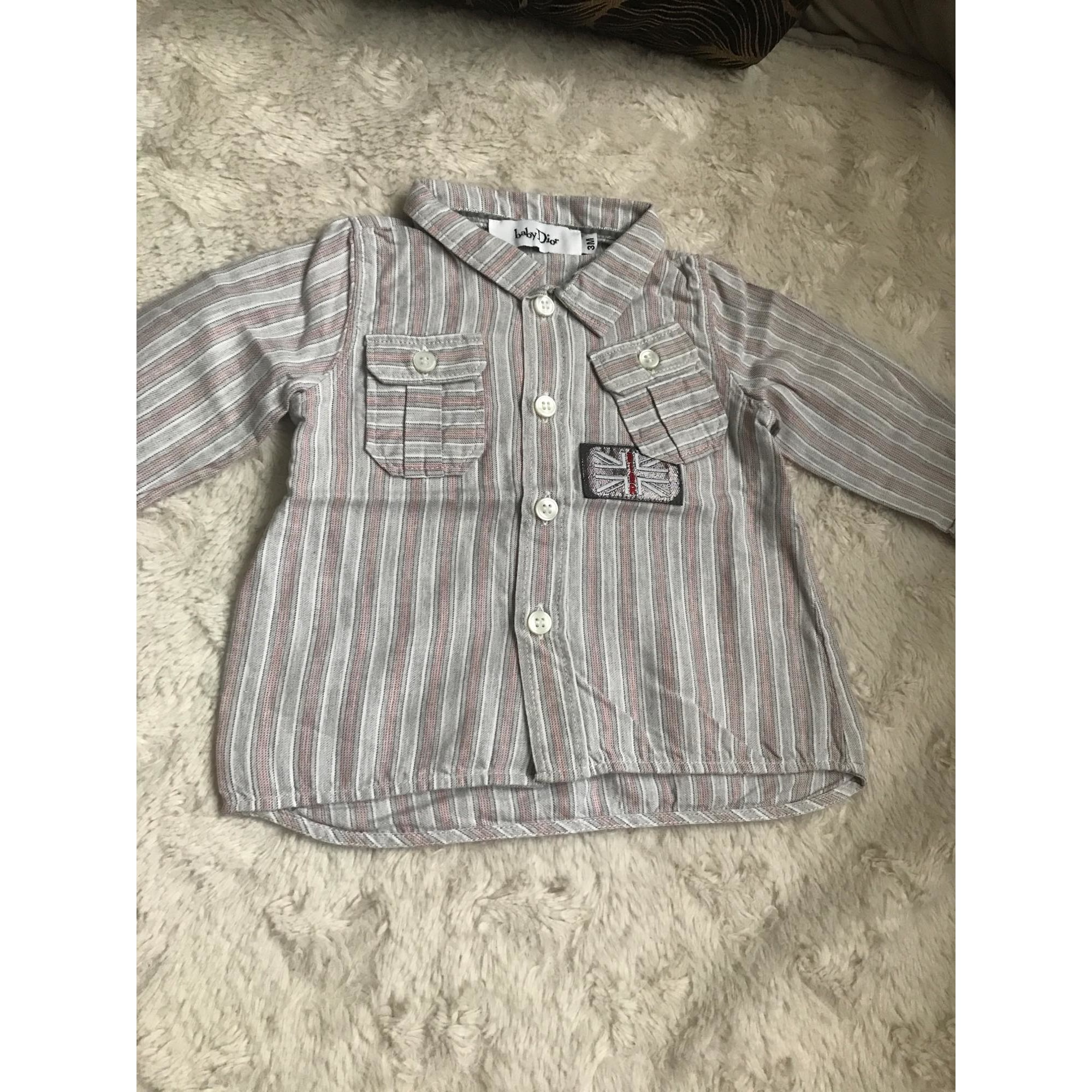 Chemise BABY DIOR Gris, anthracite