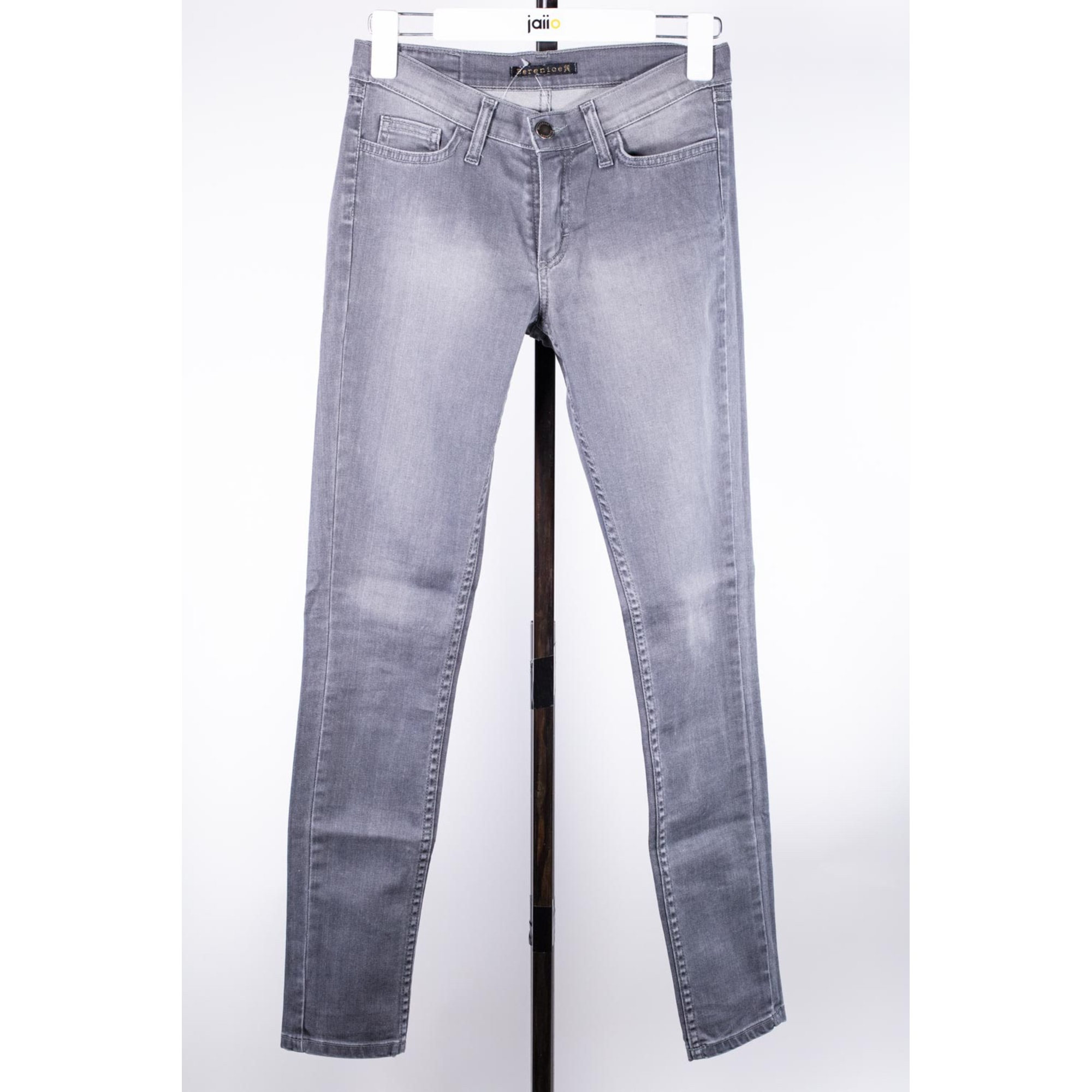 Jeans slim BERENICE Gris, anthracite