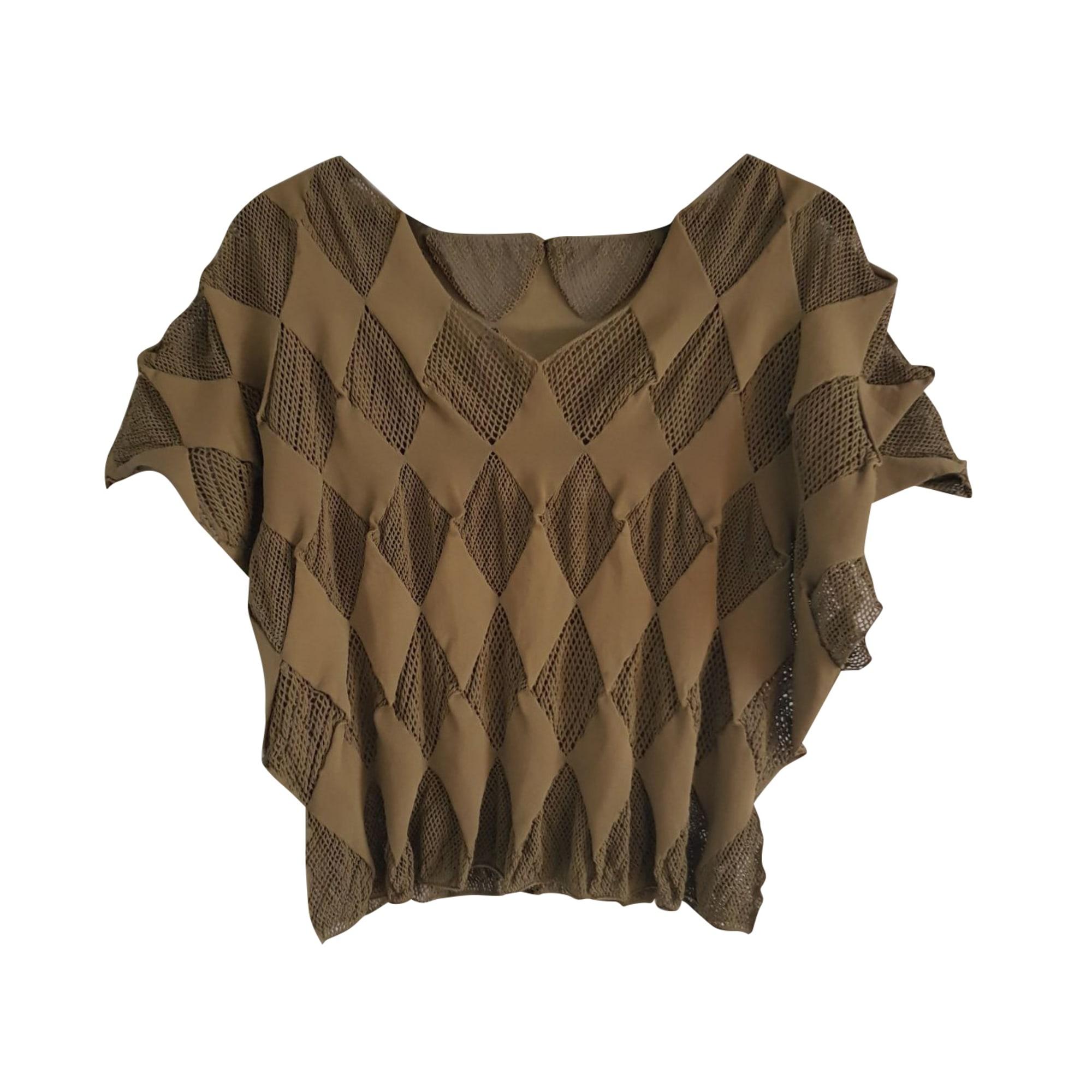 Top, tee-shirt PLEATS PLEASE BY ISSEY MIYAKE Kaki