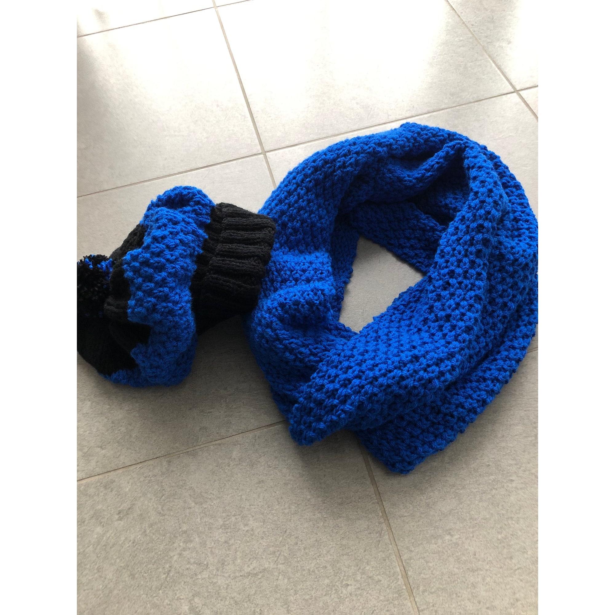 Echarpe HOBBII Bleu, bleu marine, bleu turquoise