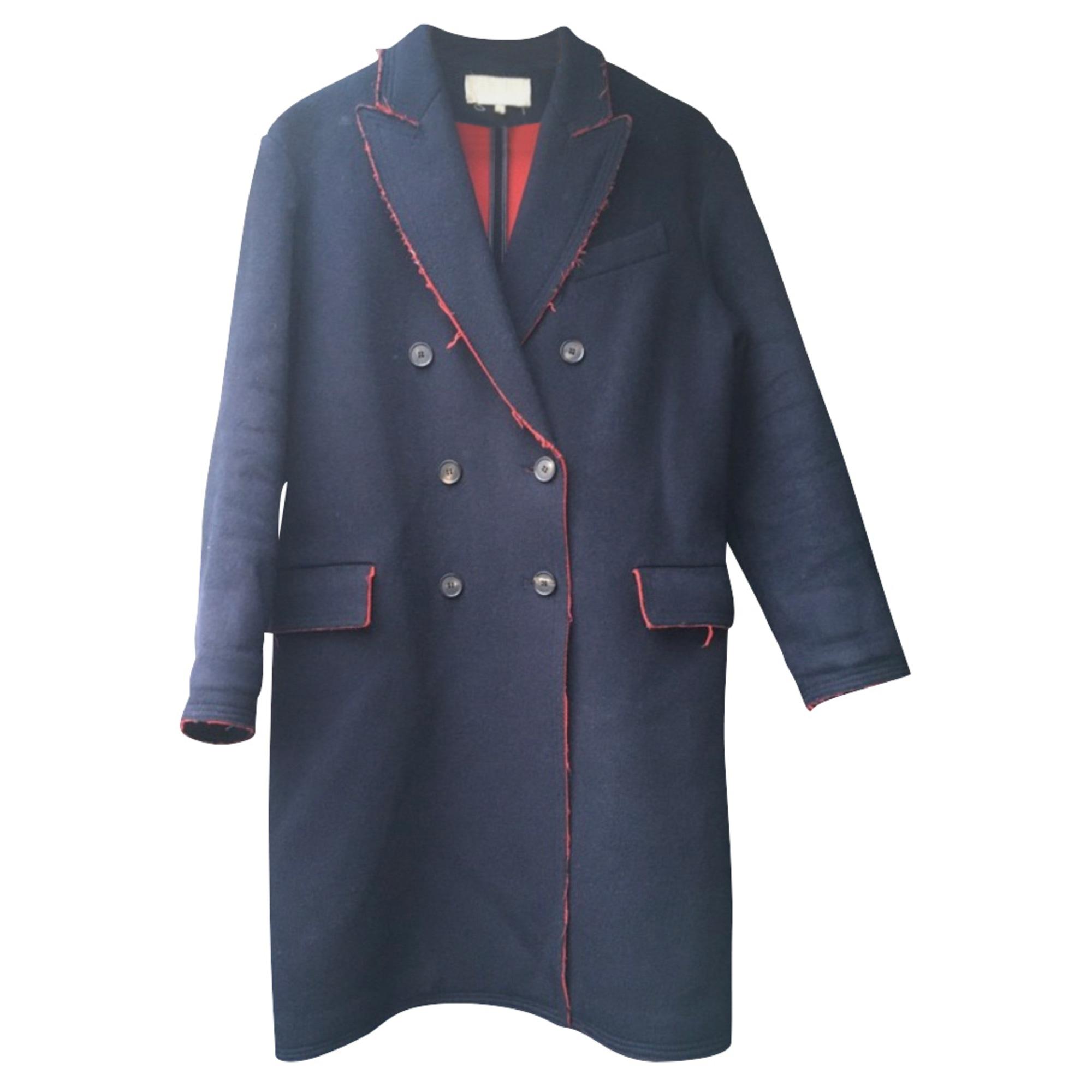 Manteau VANESSA BRUNO Bleu, bleu marine, bleu turquoise