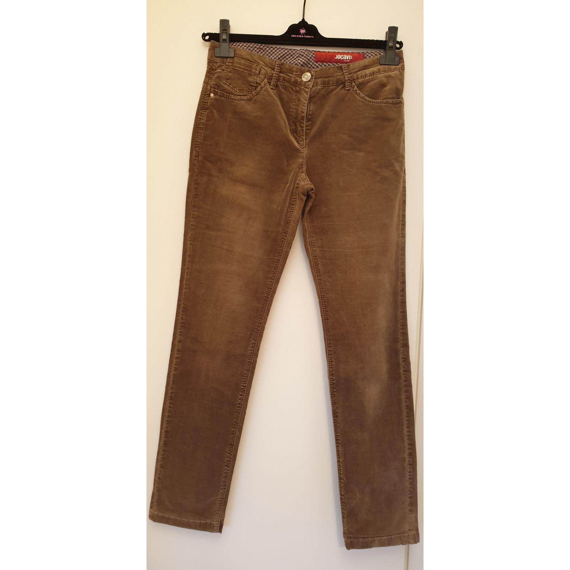 Pantalon droit MARQUE INCONNUE Beige, camel