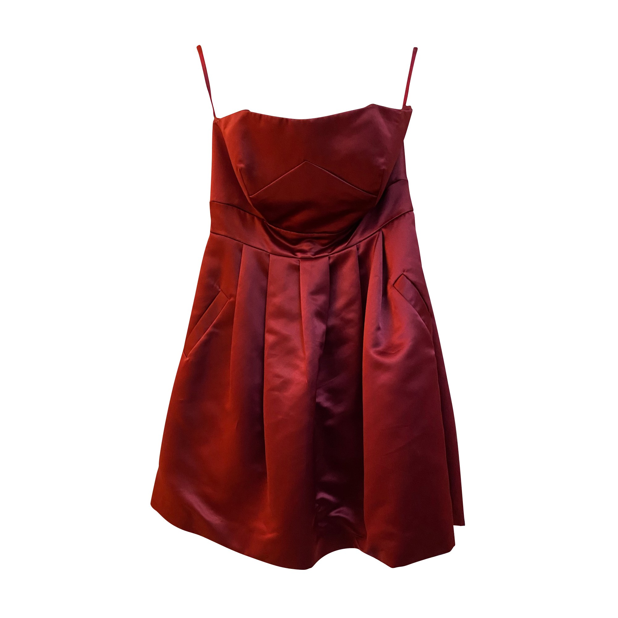 Robe bustier ALAIN MANOUKIAN Rouge, bordeaux