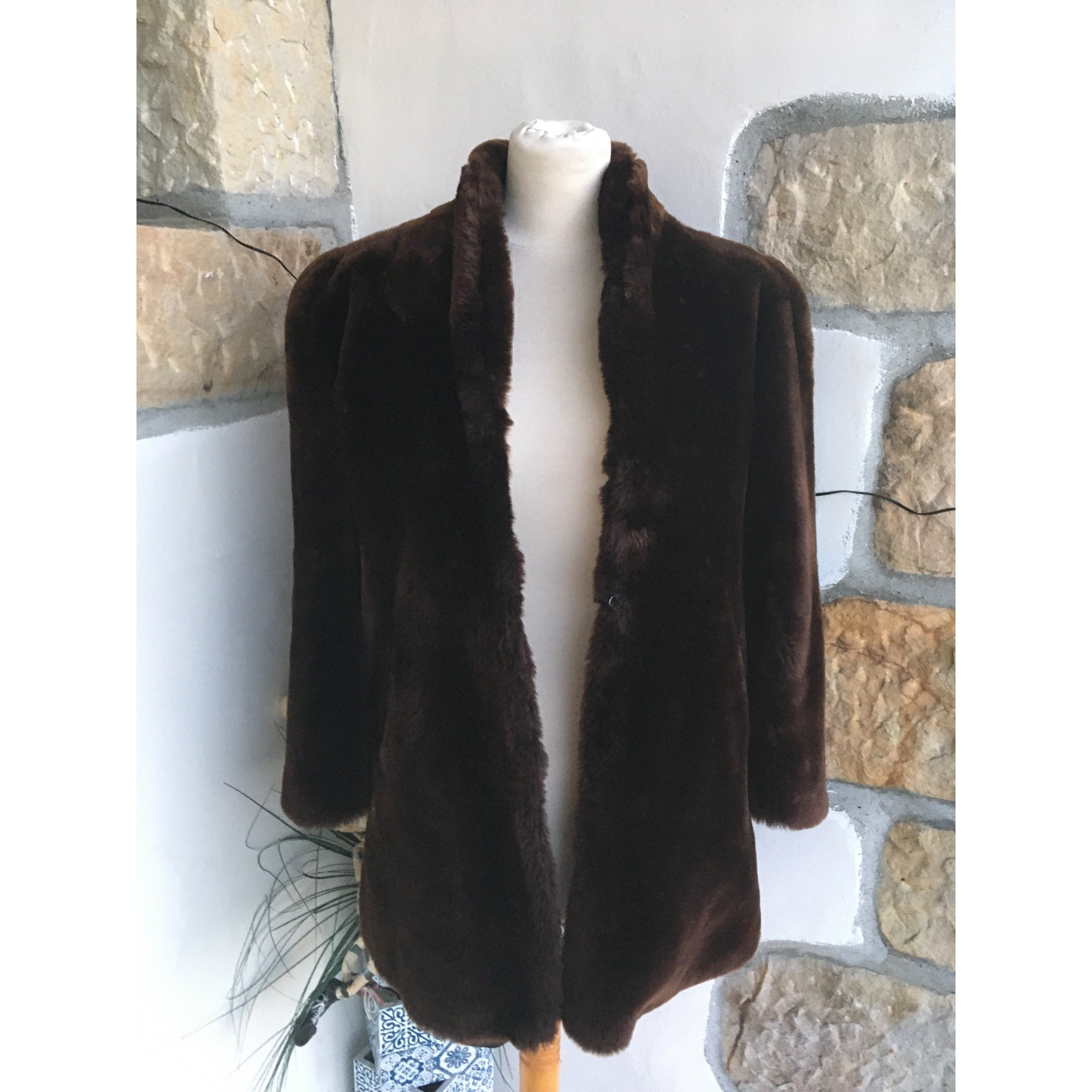 Manteau en fourrure BOUTIQUE INDEPENDANTE Marron