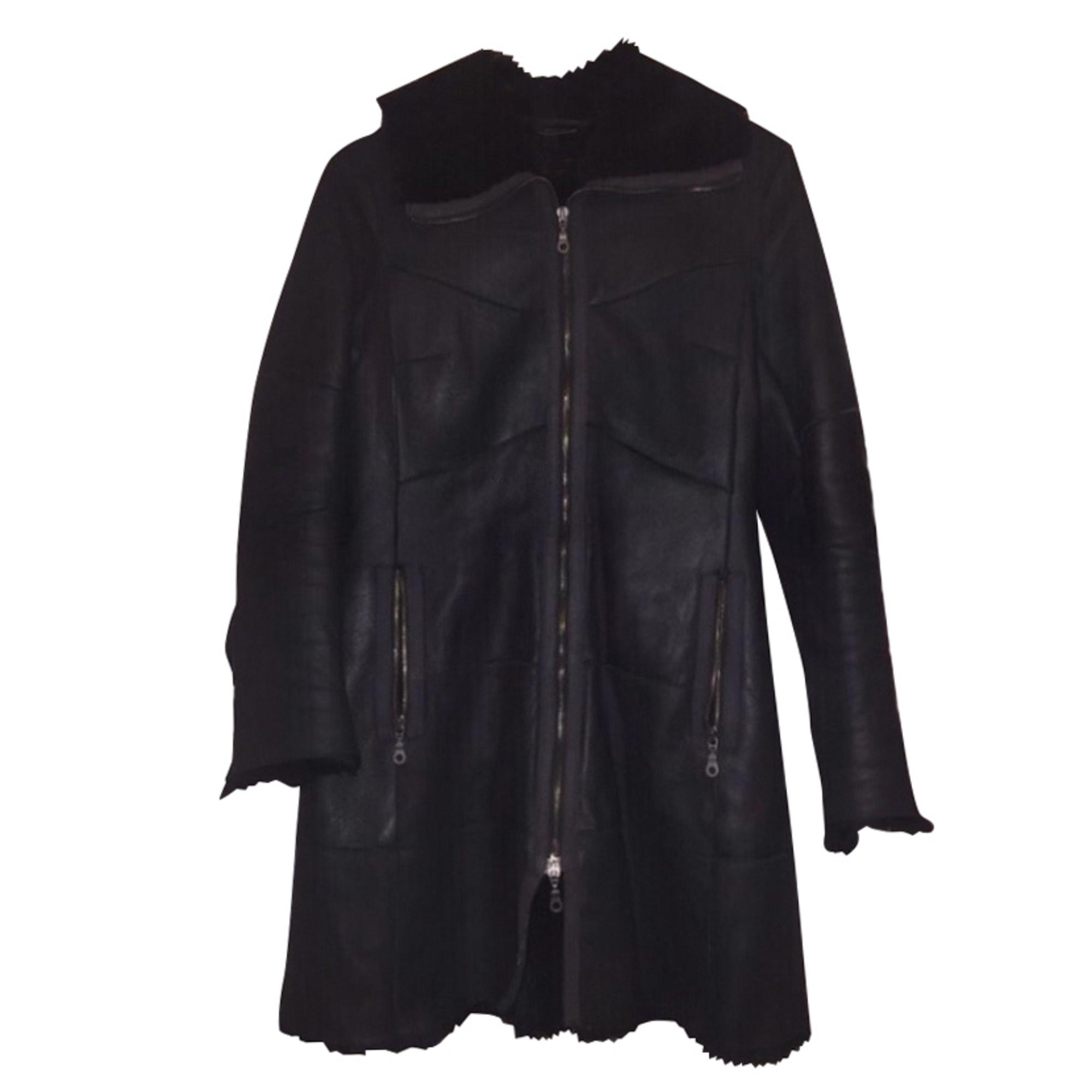 Manteau en cuir PENNYBLACK Noir