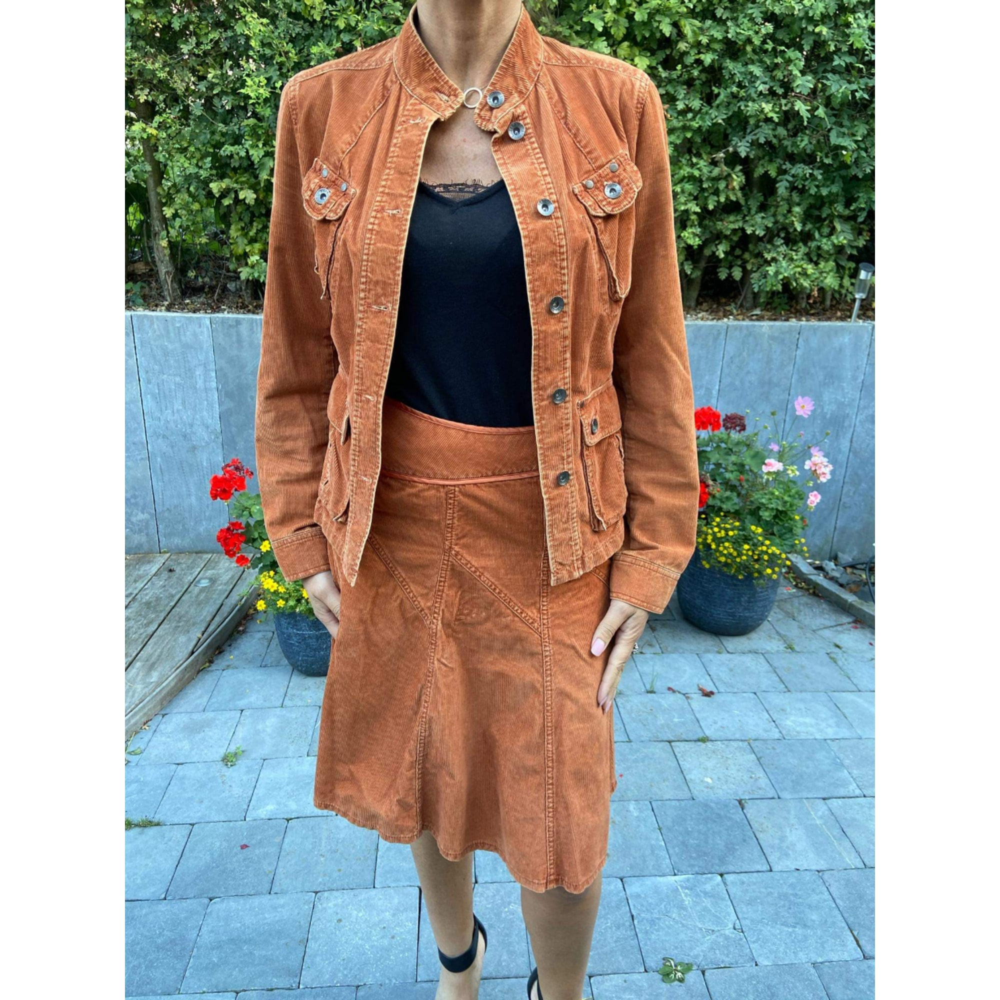 Tailleur jupe ESPRIT Orange