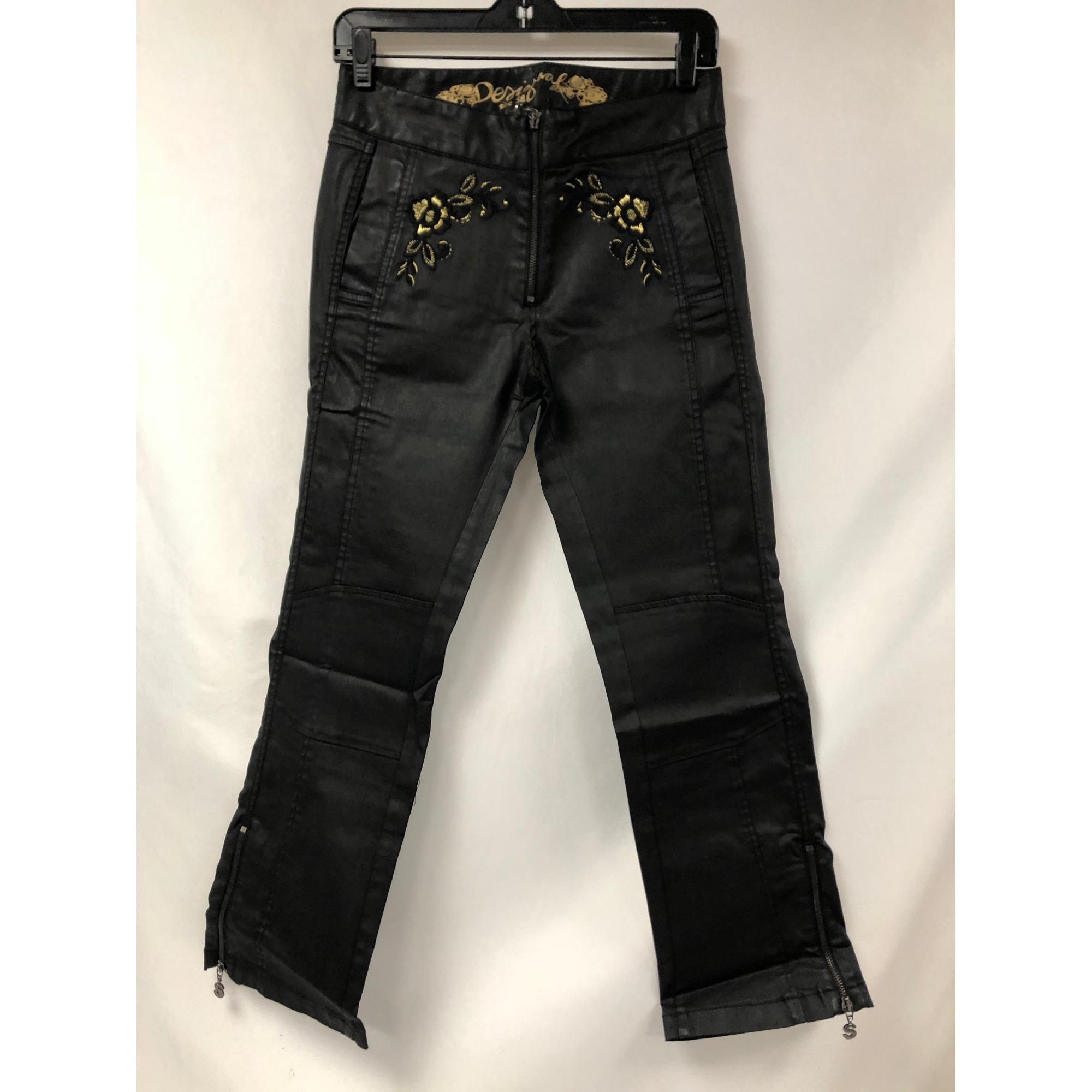 Pantalon slim, cigarette DESIGUAL Noir