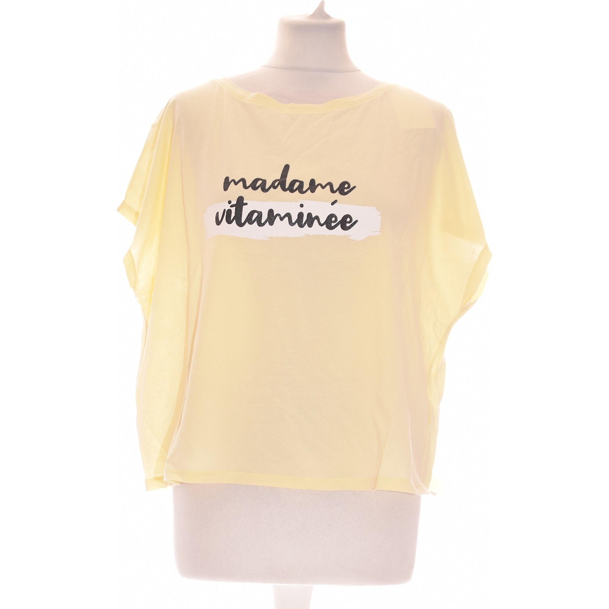 Top, tee-shirt CAMAIEU Jaune