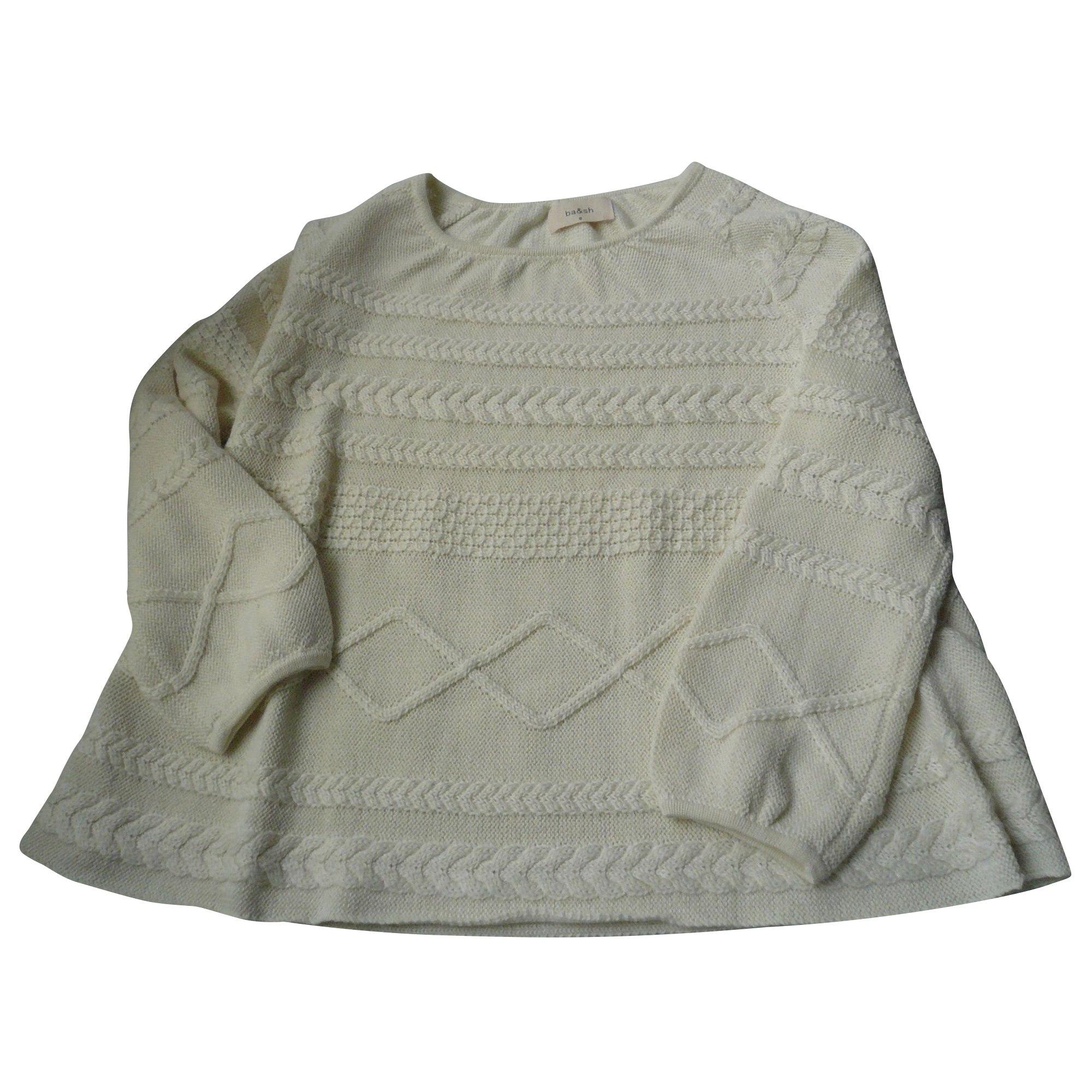 Pull tunique BA&SH Blanc, blanc cassé, écru