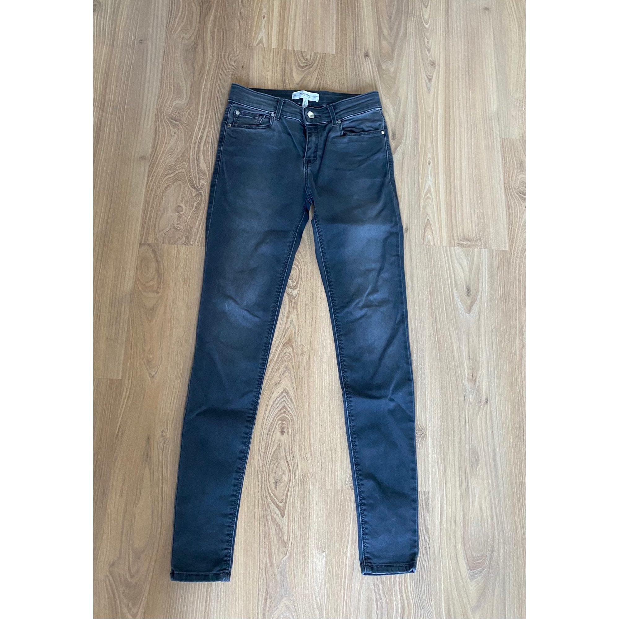 Jeans slim MANGO Gris, anthracite