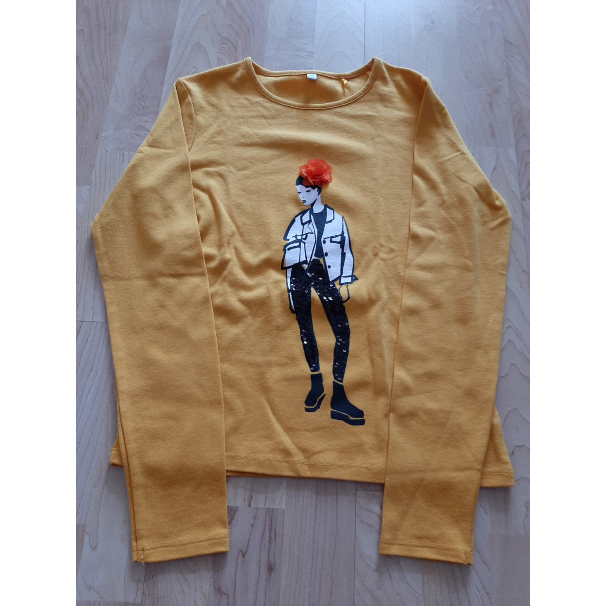 Pull MARQUE INCONNUE moutarde