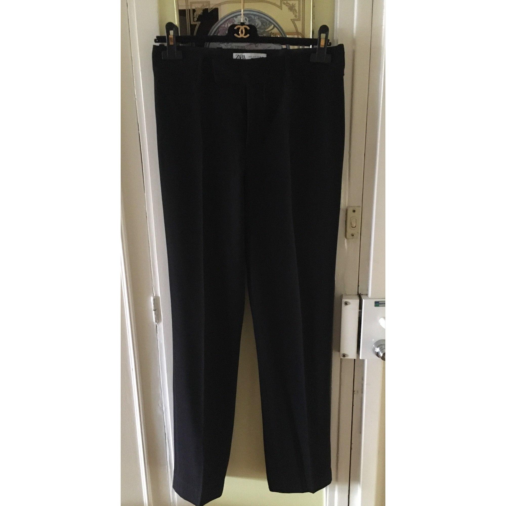 Pantalon droit ZARA Noir