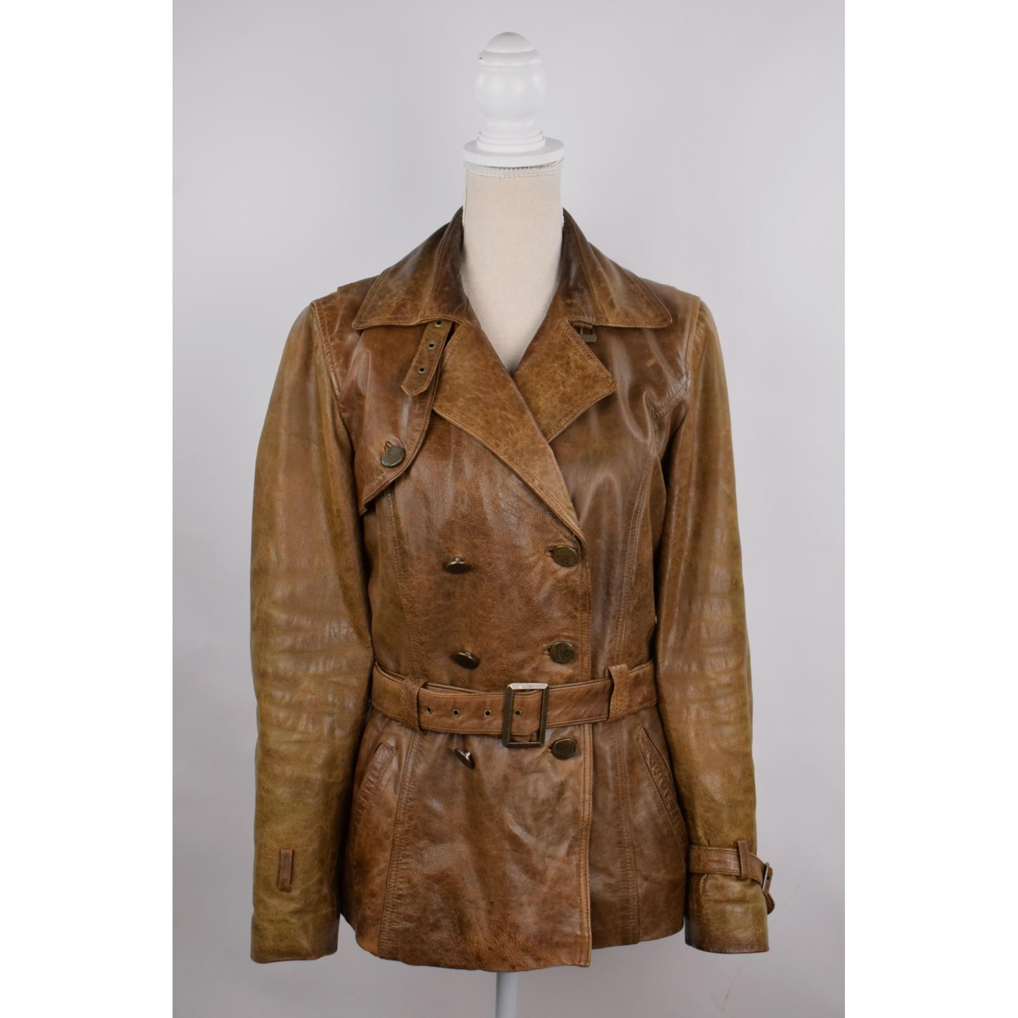 Veste en cuir ARMA CUIR Doré, bronze, cuivre