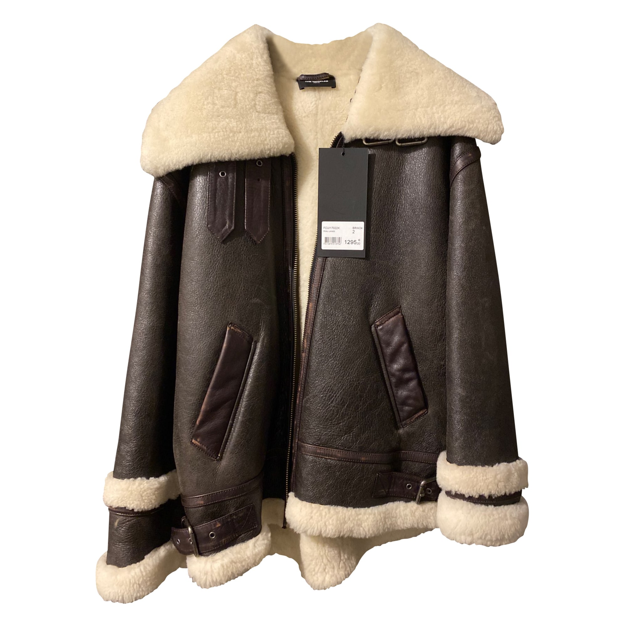 Manteau en cuir THE KOOPLES Marron