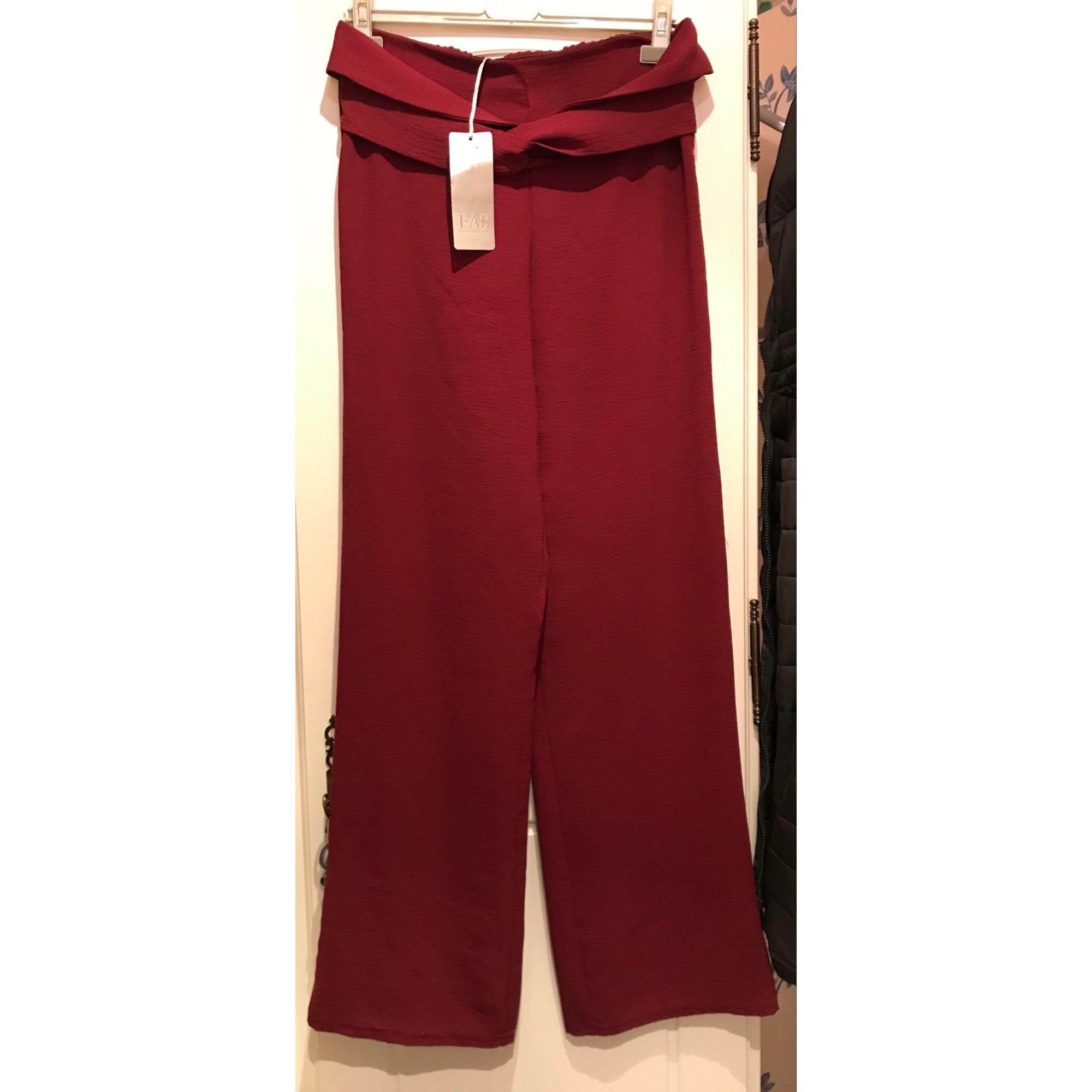 Pantalon large FAS - FILLE A SUIVRE Rouge, bordeaux