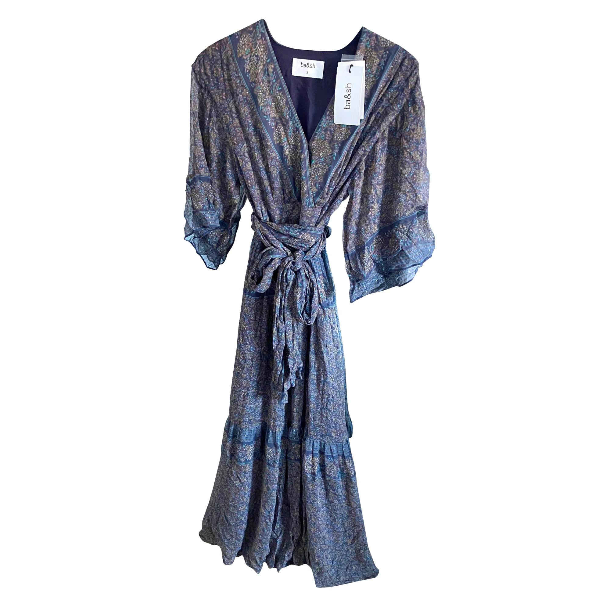 Robe longue BA&SH Violet, mauve, lavande