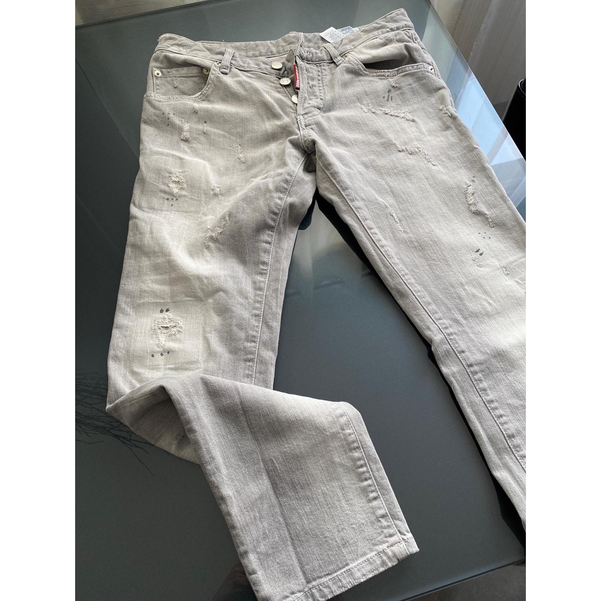 Jeans droit DSQUARED2 Gris, anthracite