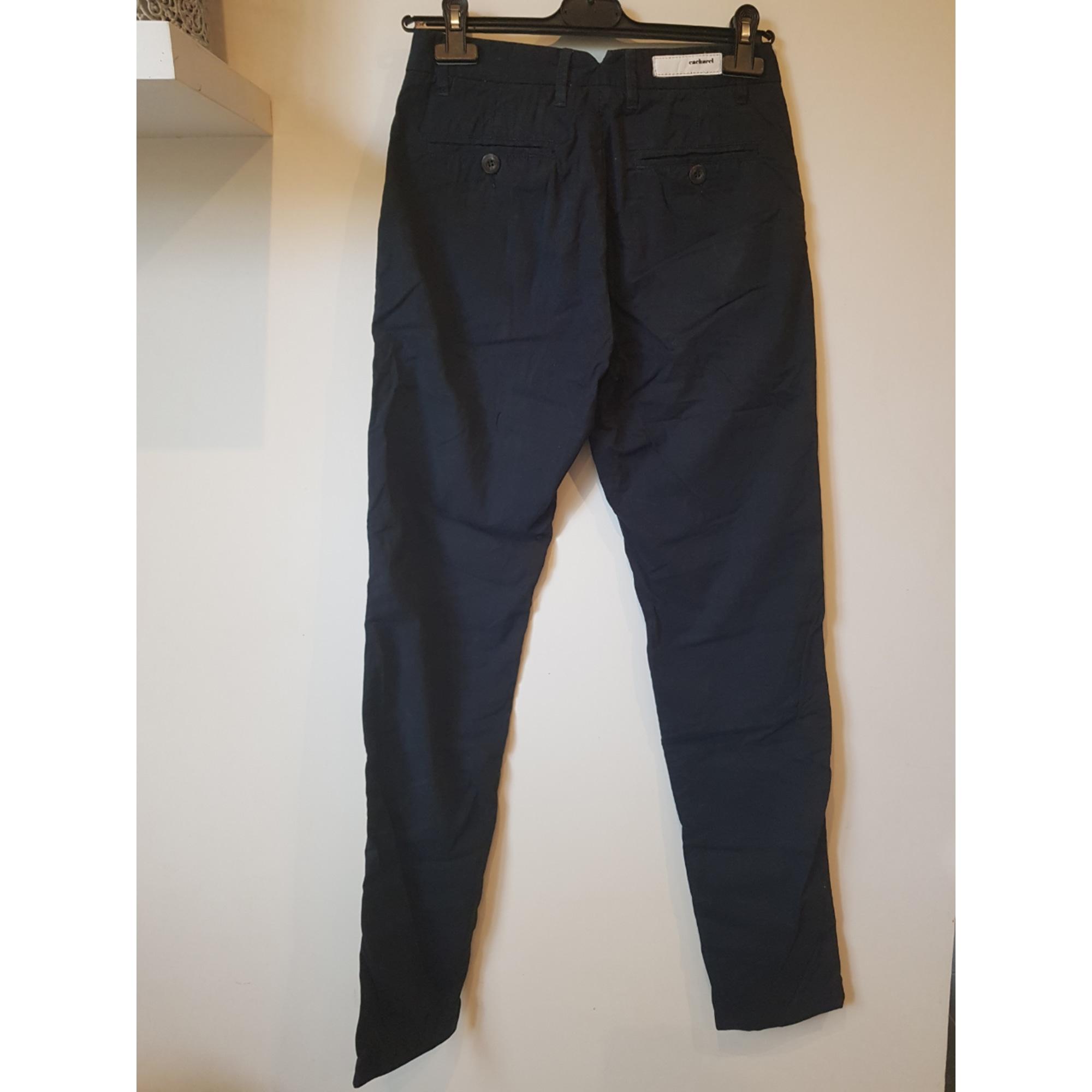 Pantalon droit CACHAREL Bleu, bleu marine, bleu turquoise